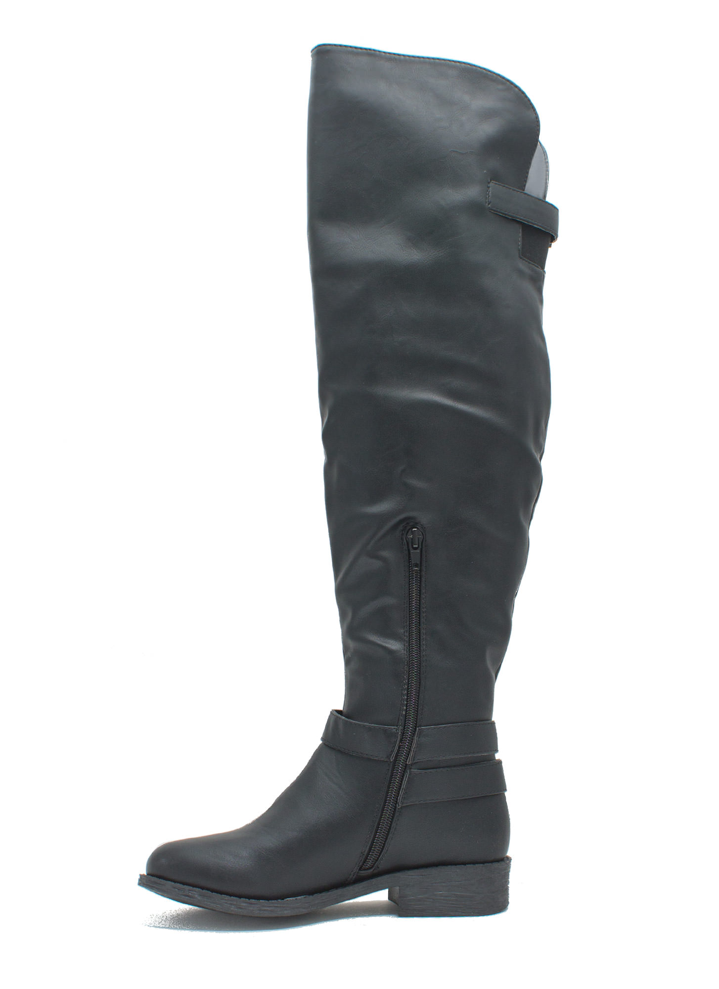 Quest 4 Chic Over-The-Knee Boots BLACK
