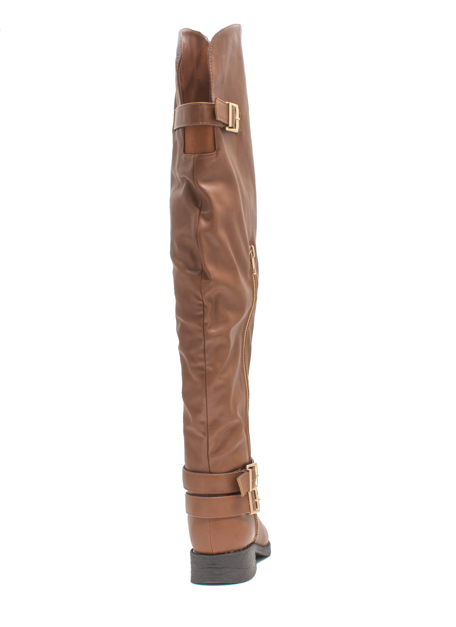 Quest 4 Chic Over-The-Knee Boots CHESTNUT