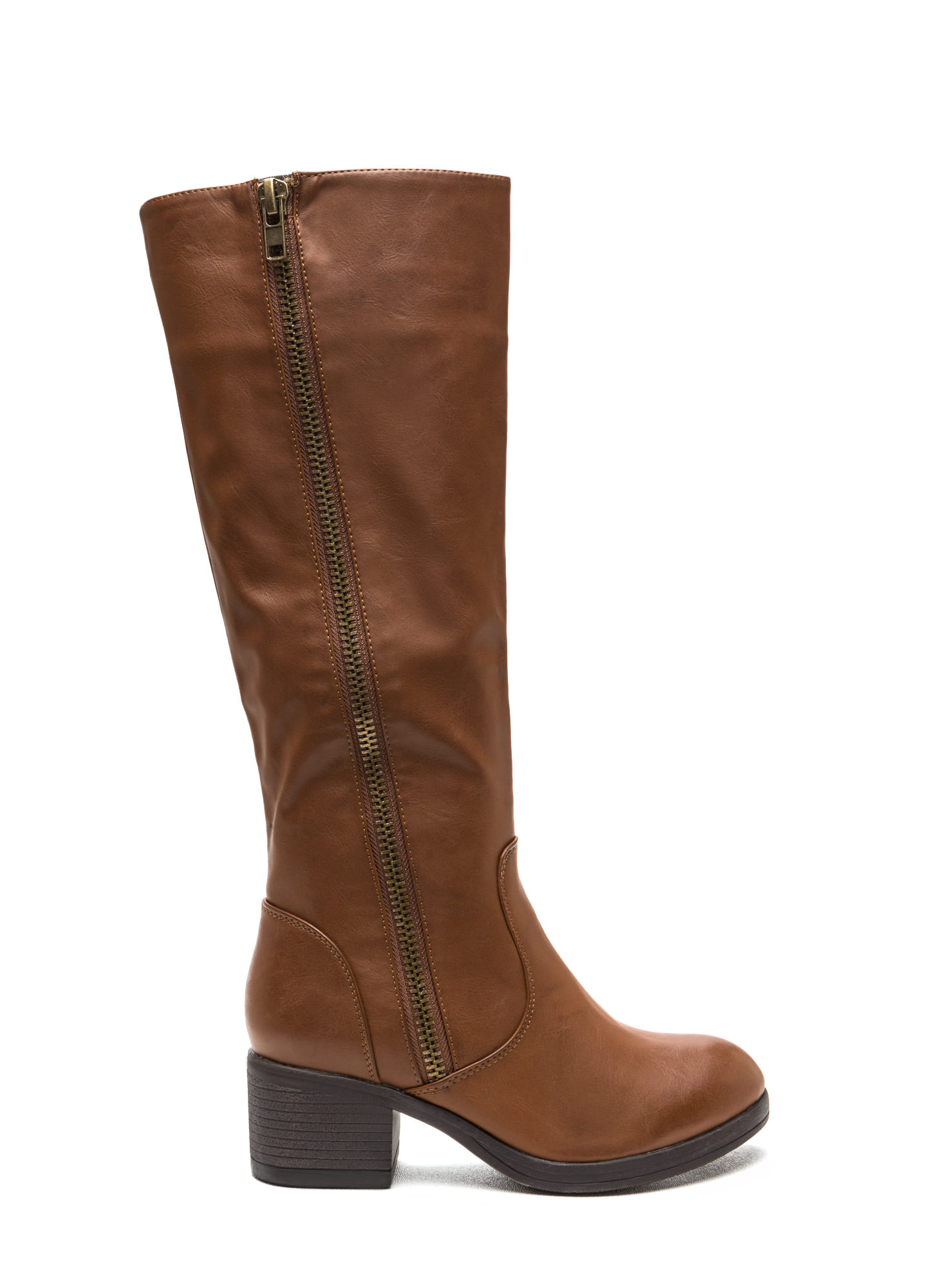 Zip Right Up Faux Leather Boots GoJane.com