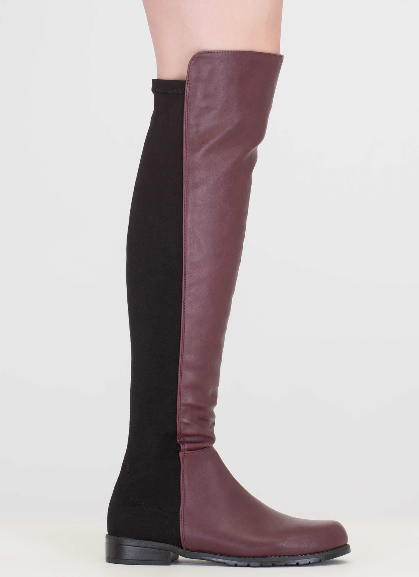 Score Slim Over-The-Knee Boots OXBLOOD