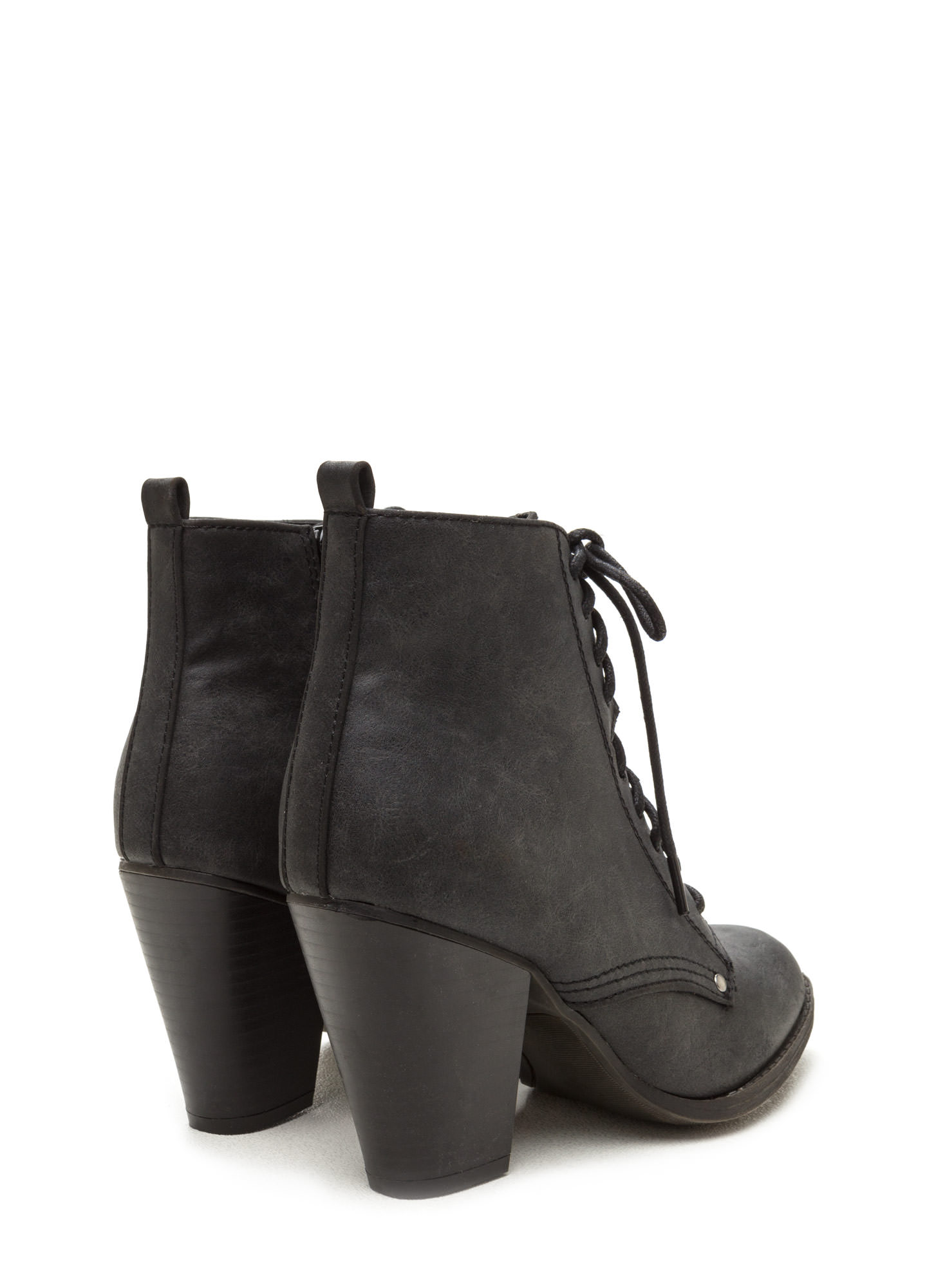 Complete Me Faux Leather Booties BLACK