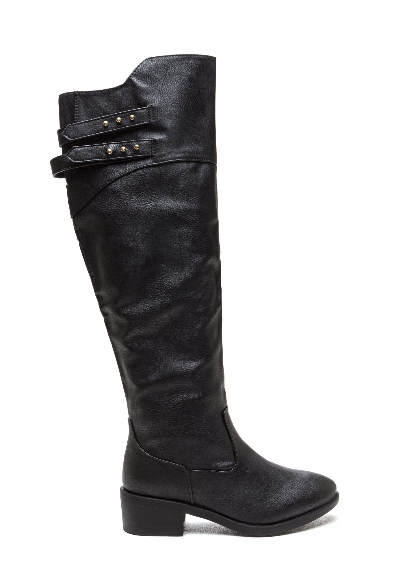 Double Trouble Strappy Boots BLACK