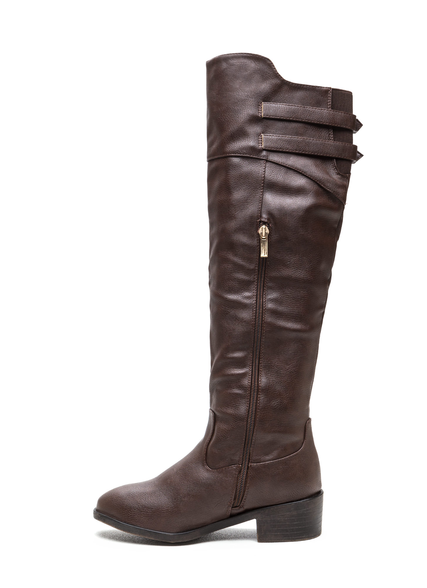 Double Trouble Strappy Boots BROWN