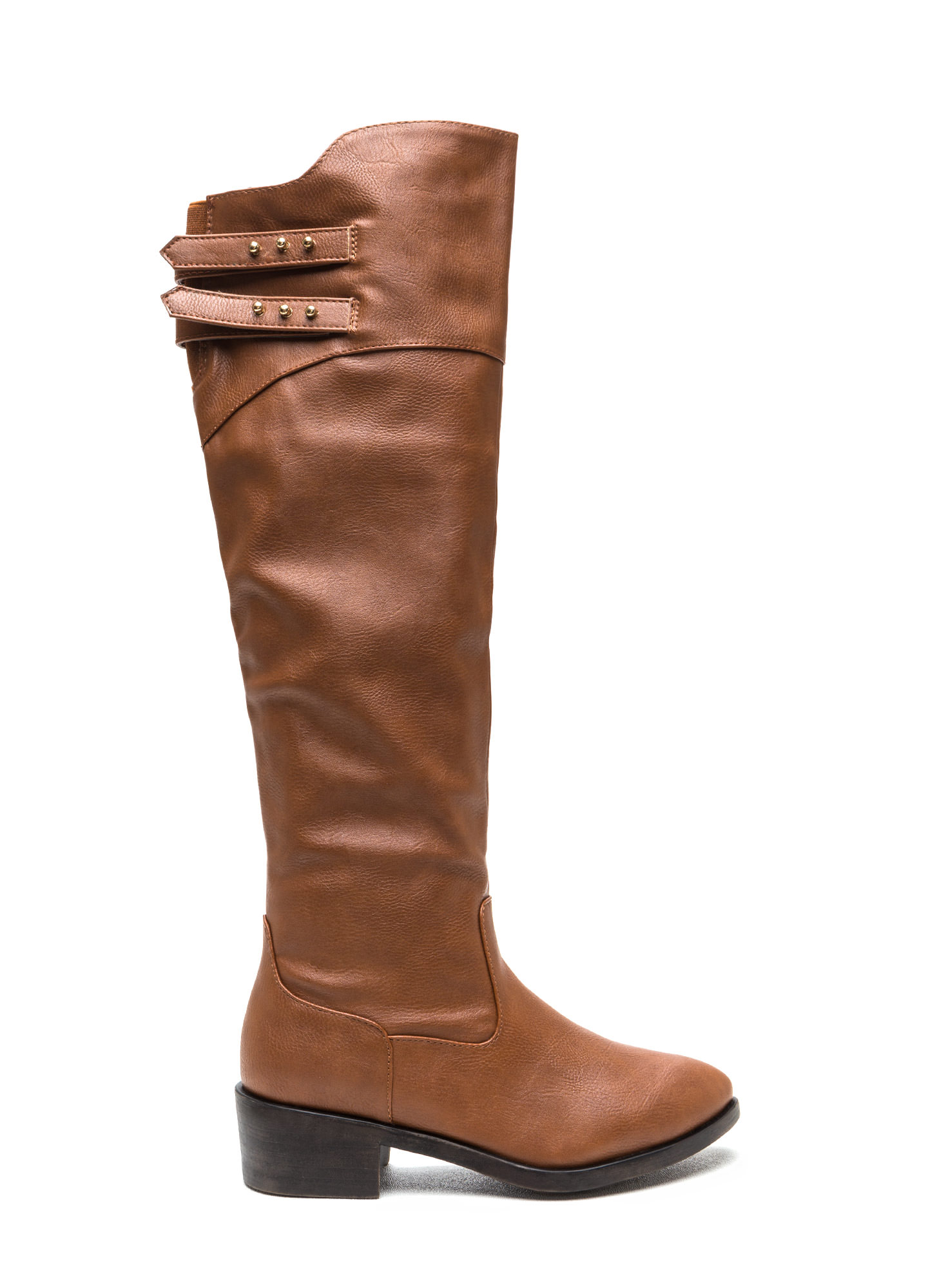 Double Trouble Strappy Boots CHESTNUT