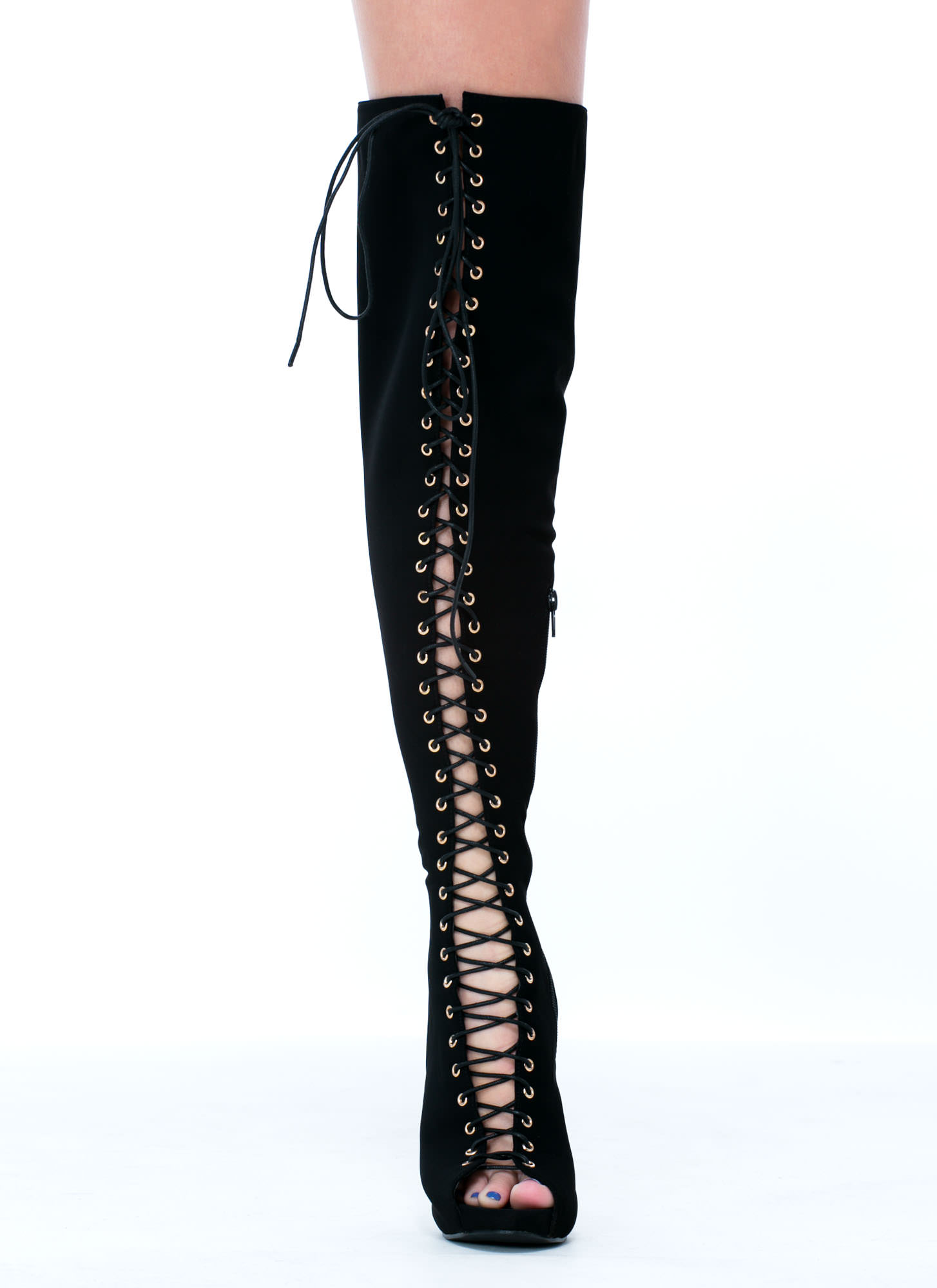 ALL THE WAY THIGH-HIGH LACE-UP BOOTS GOJANE.COM on The Hunt