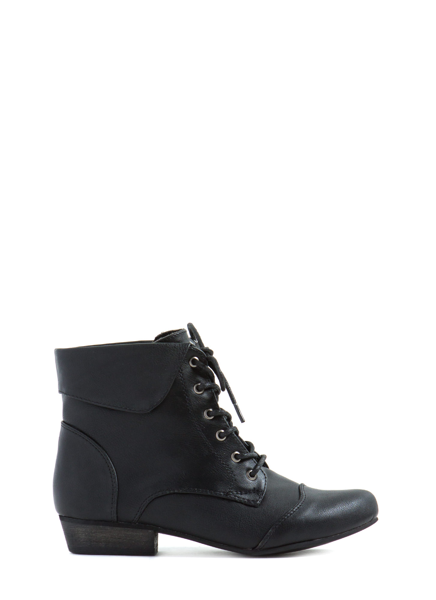 Black Ankle Boots Lace Up - Yu Boots