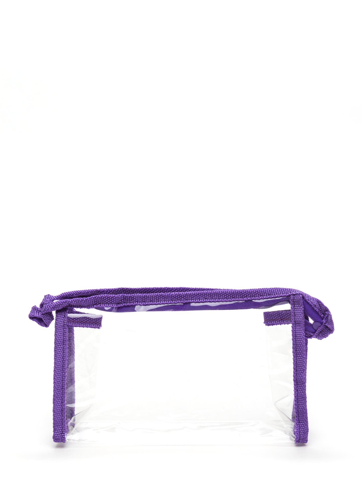 In Sight Zippered Pouch PURPLECLEAR