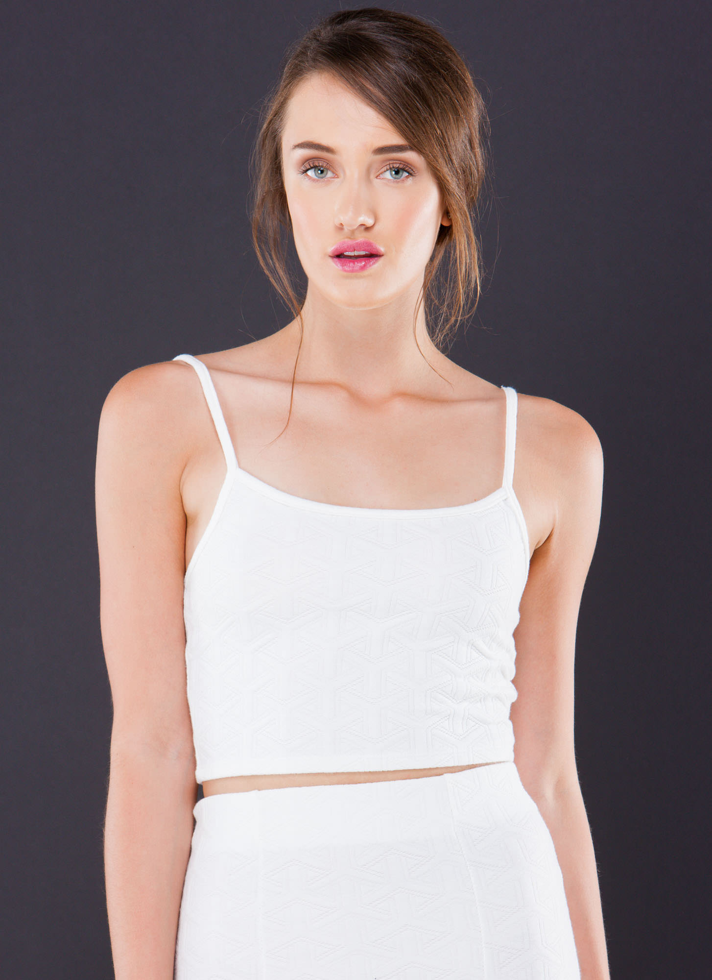 sure y not strappy cropped tank top white blush
