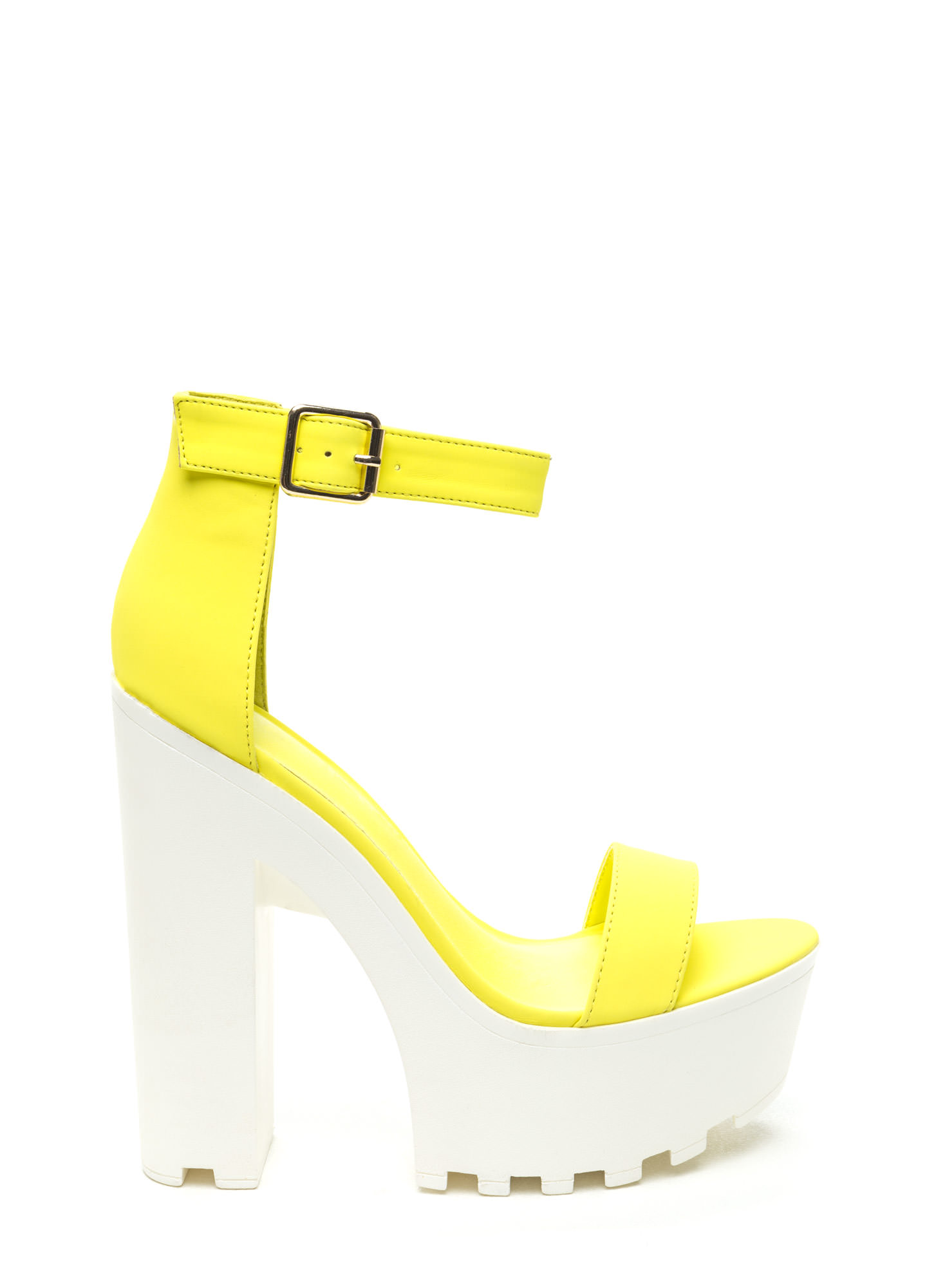 Yellow Black Heels