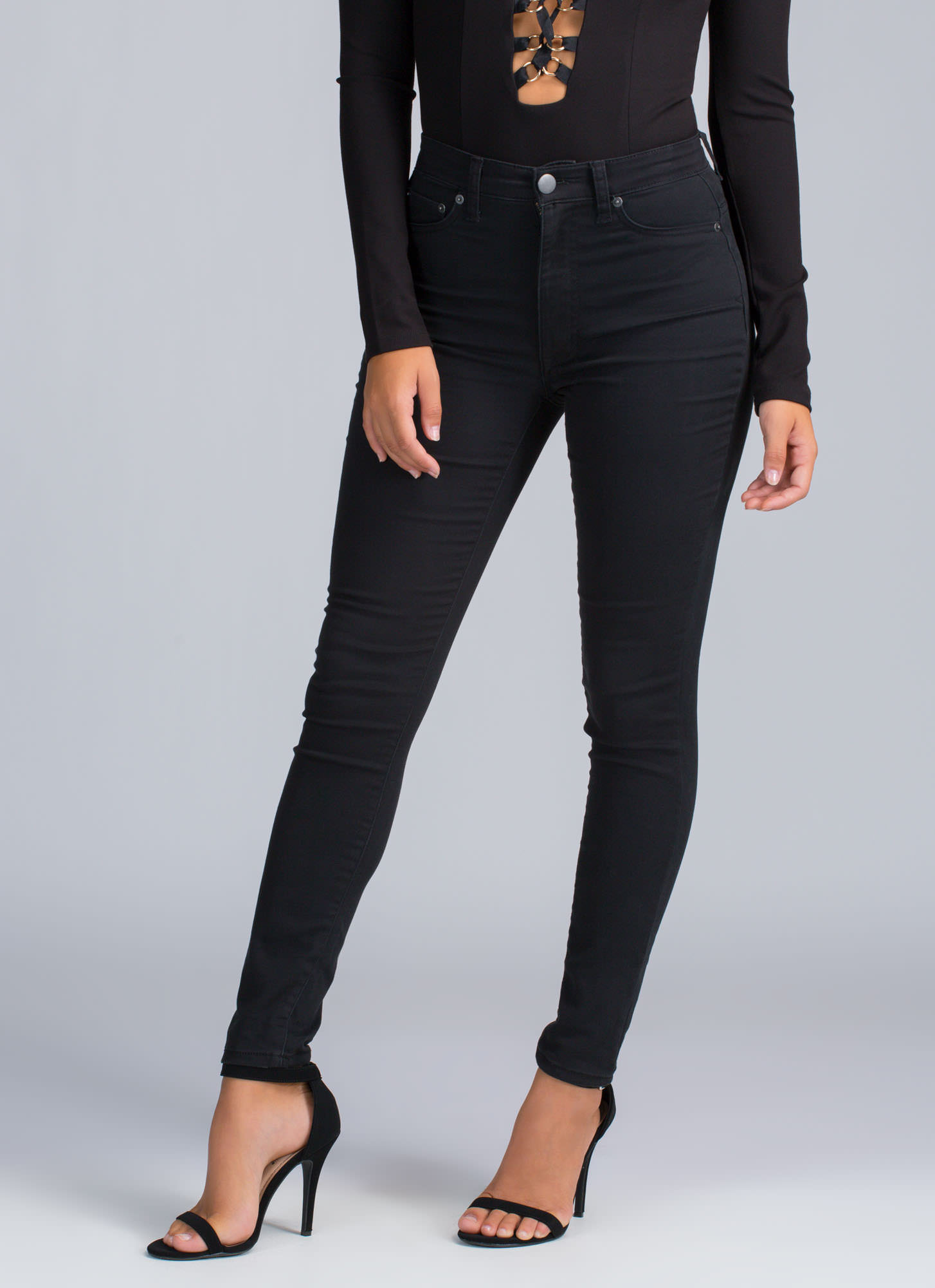 Stretchy Black Jeans - Jeans Am