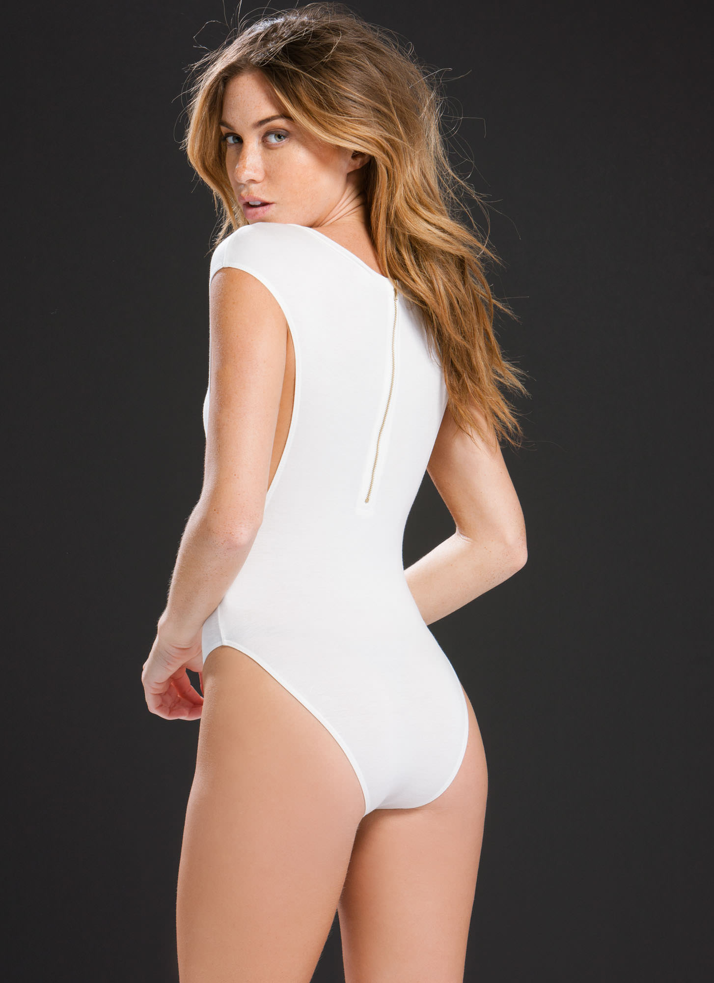Don't Mess Muscle Body Suit IVORY