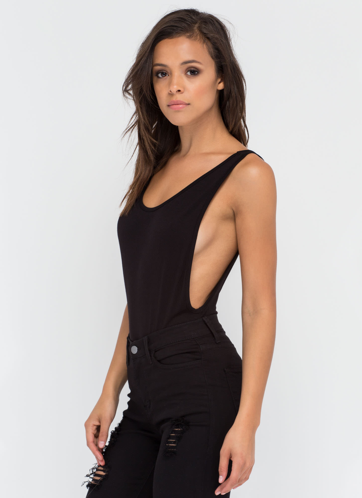 Wanted Muscle Bodysuit BLACK
