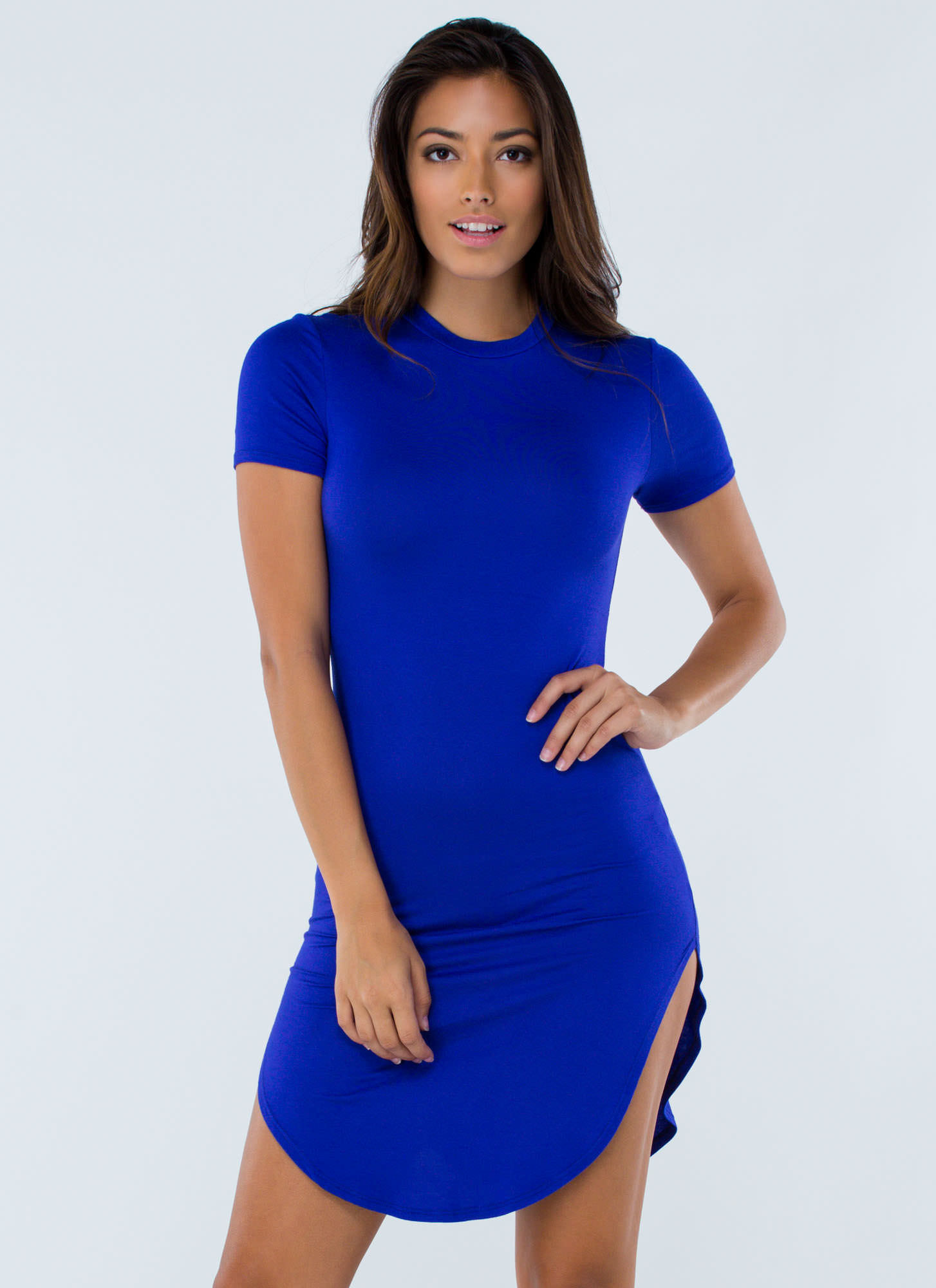 Basically Chic Bodycon Dress ROYAL