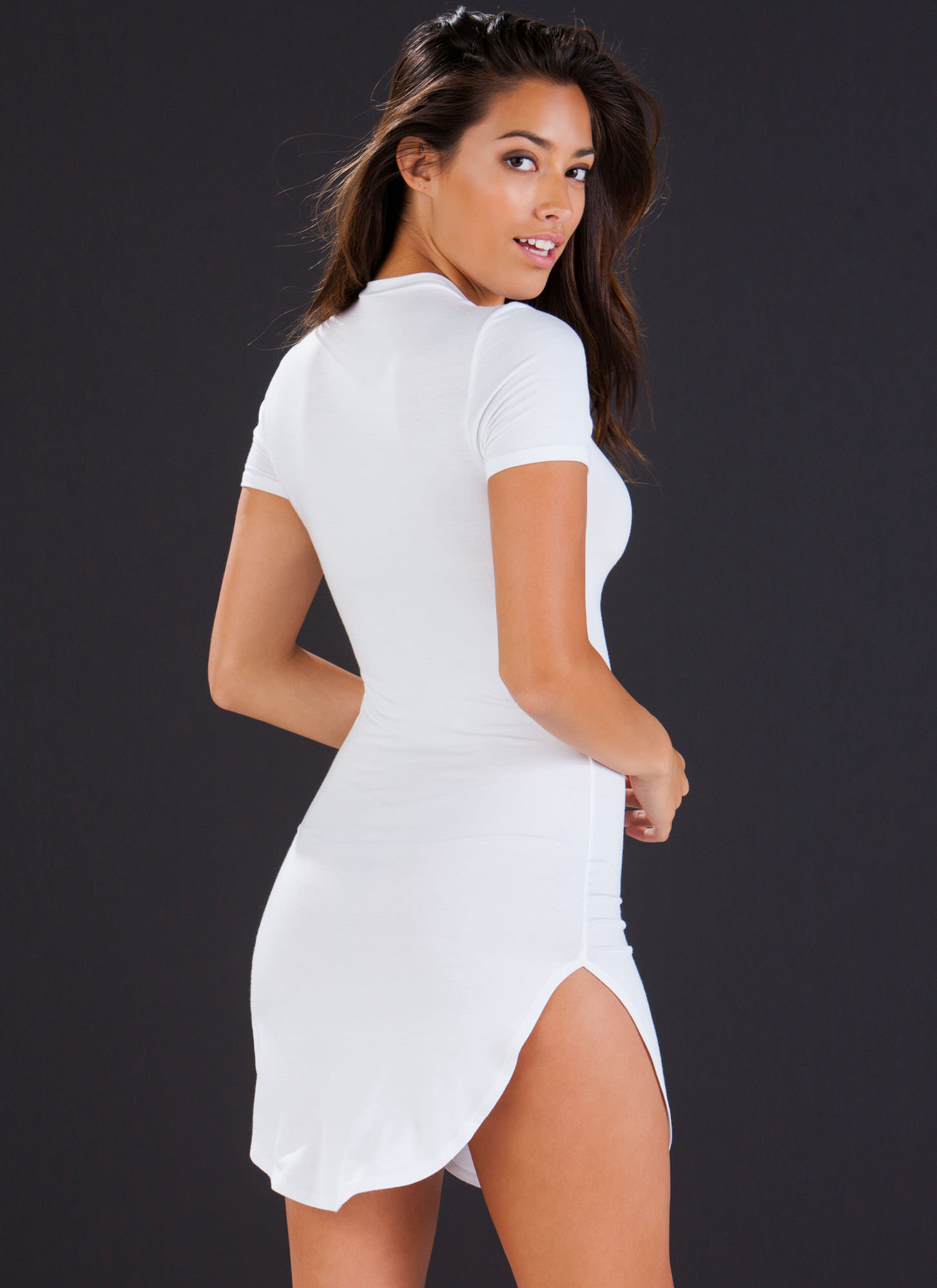 Basically Chic Bodycon Dress WHITE