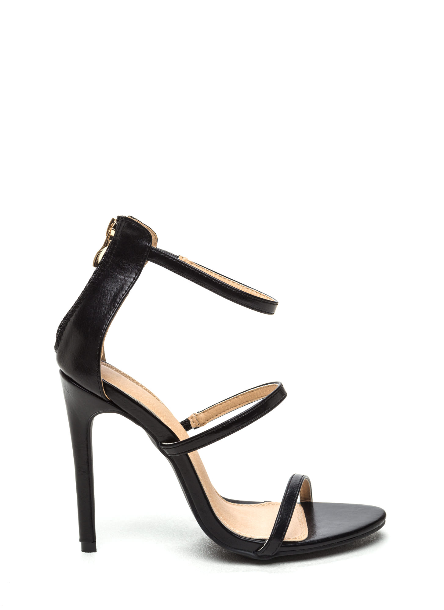Strappy Heels Black - Is Heel