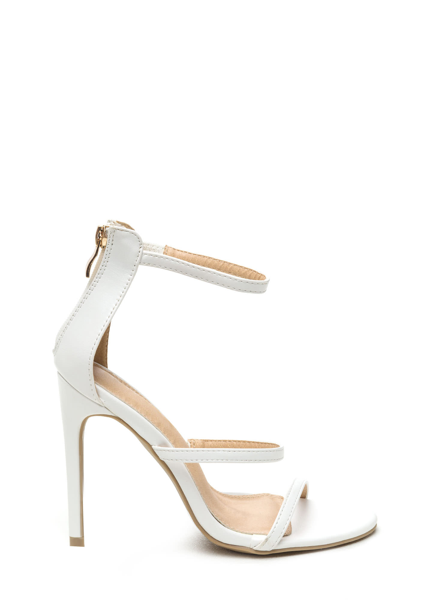 White Heels - Ivory &amp White Pumps Strappy Heels &amp More