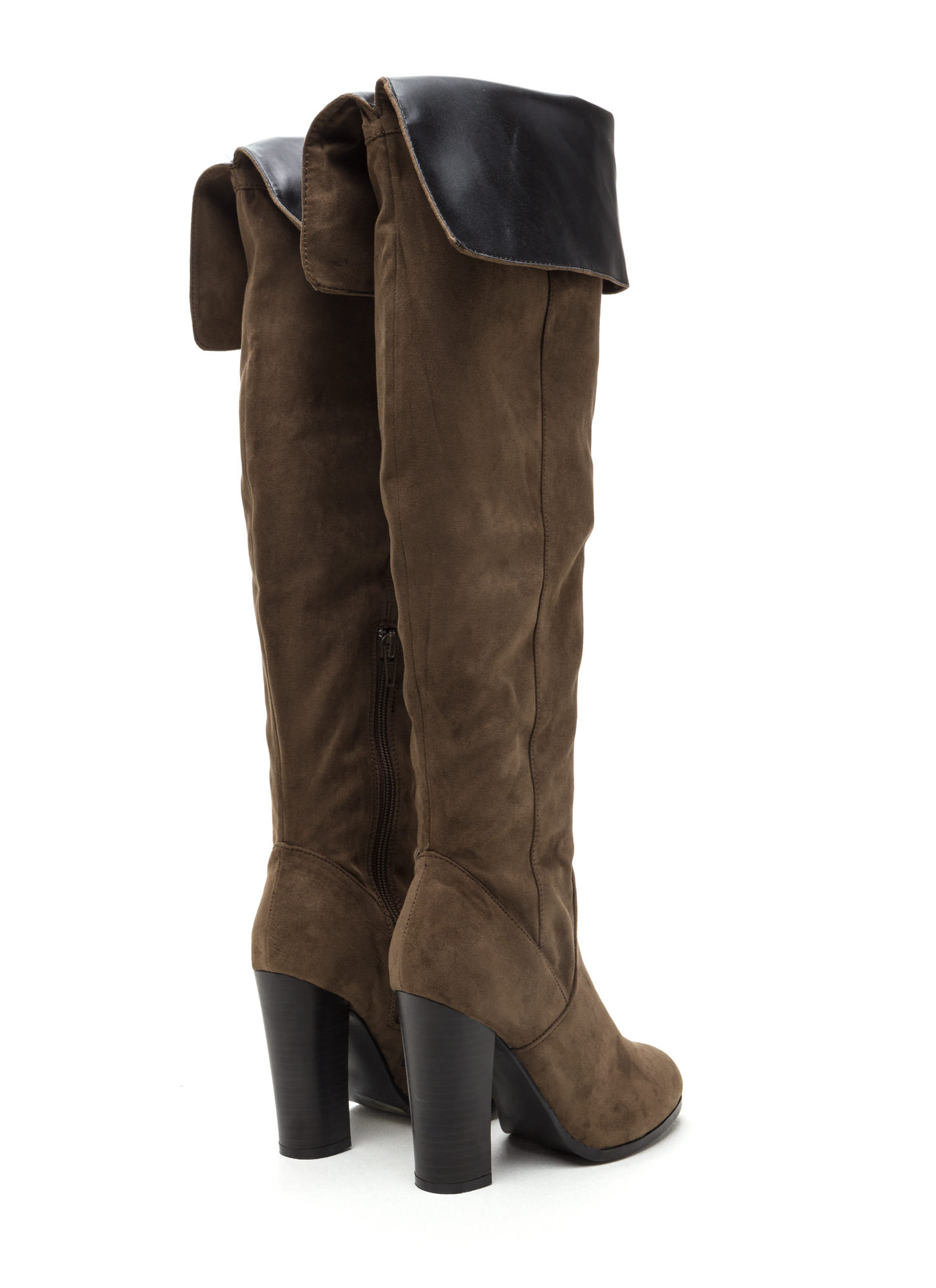 Made For Walking Faux Suede Boots KHAKI