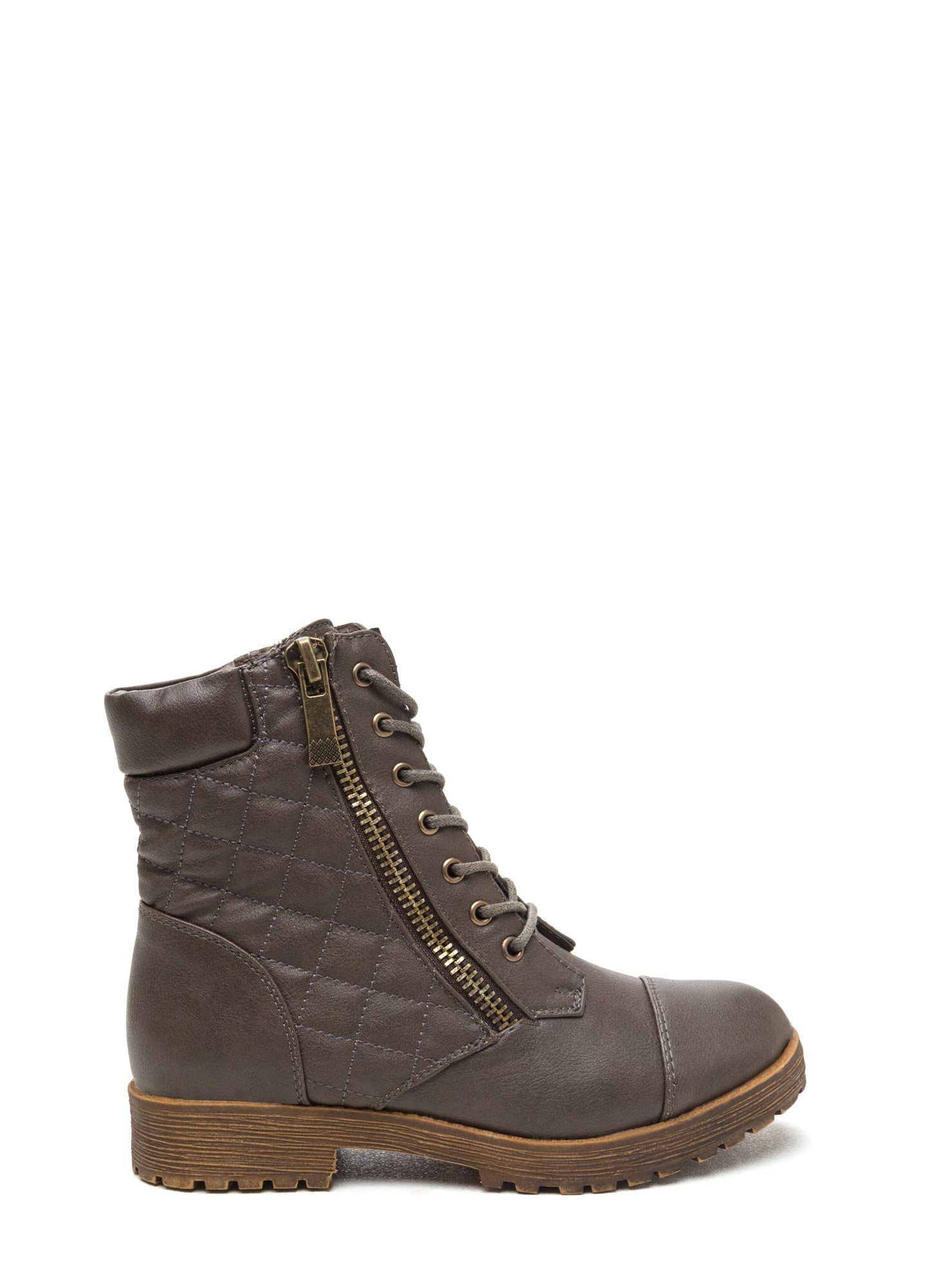 Quilted Combat Boots Stay Chic Quilted Combat Boots