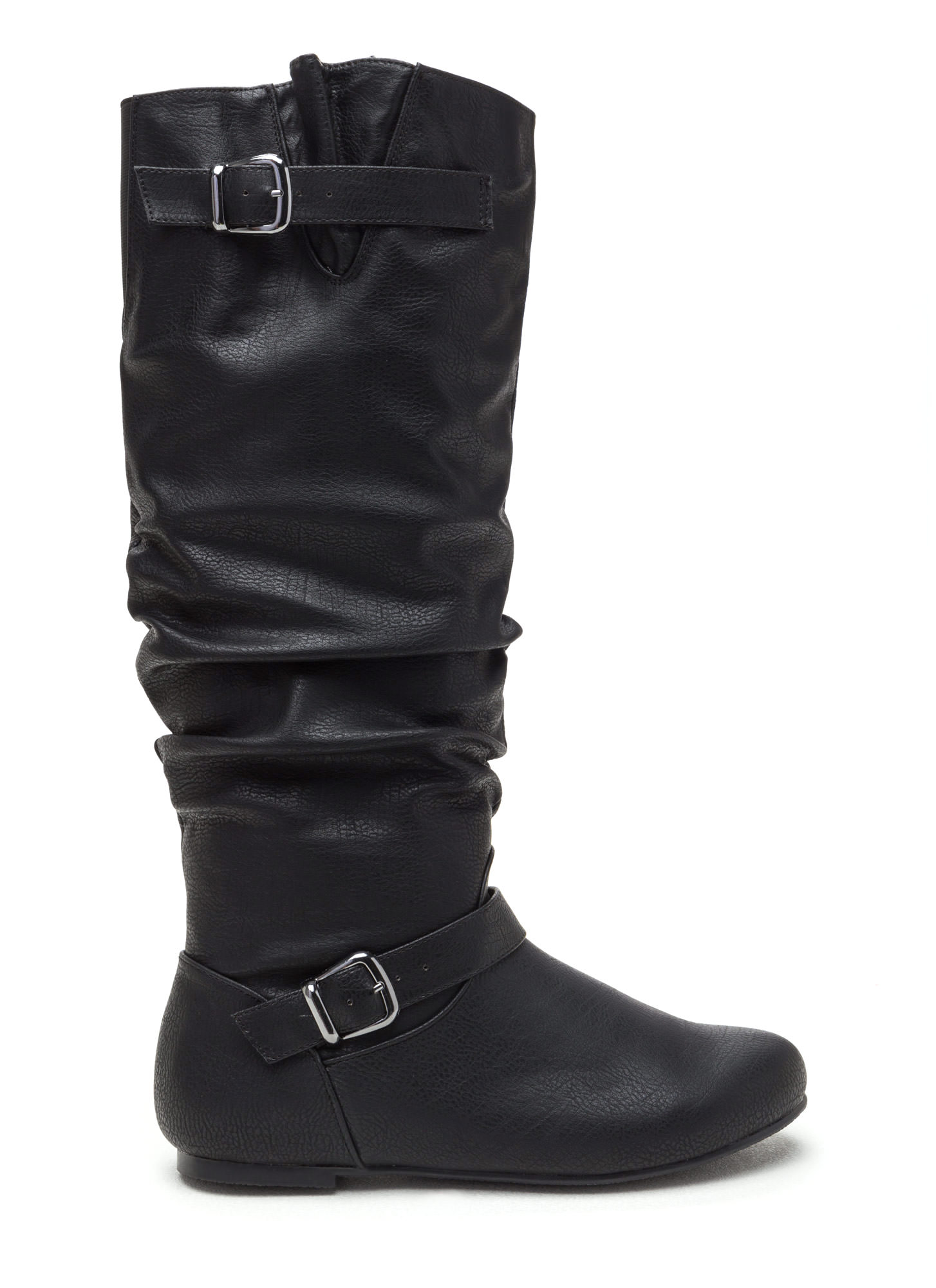 Safe 'N Sound Faux Leather Boots BLACK