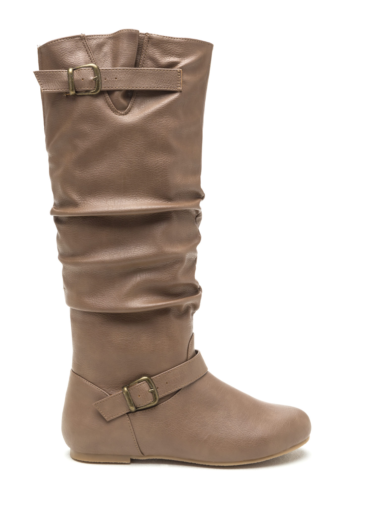 Safe 'N Sound Faux Leather Boots TAUPE