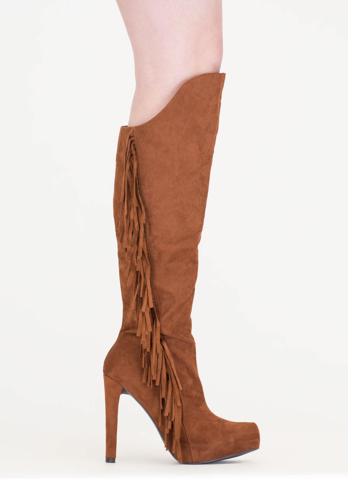 Long Live Fringe Over-The-Knee Boots DKRUST