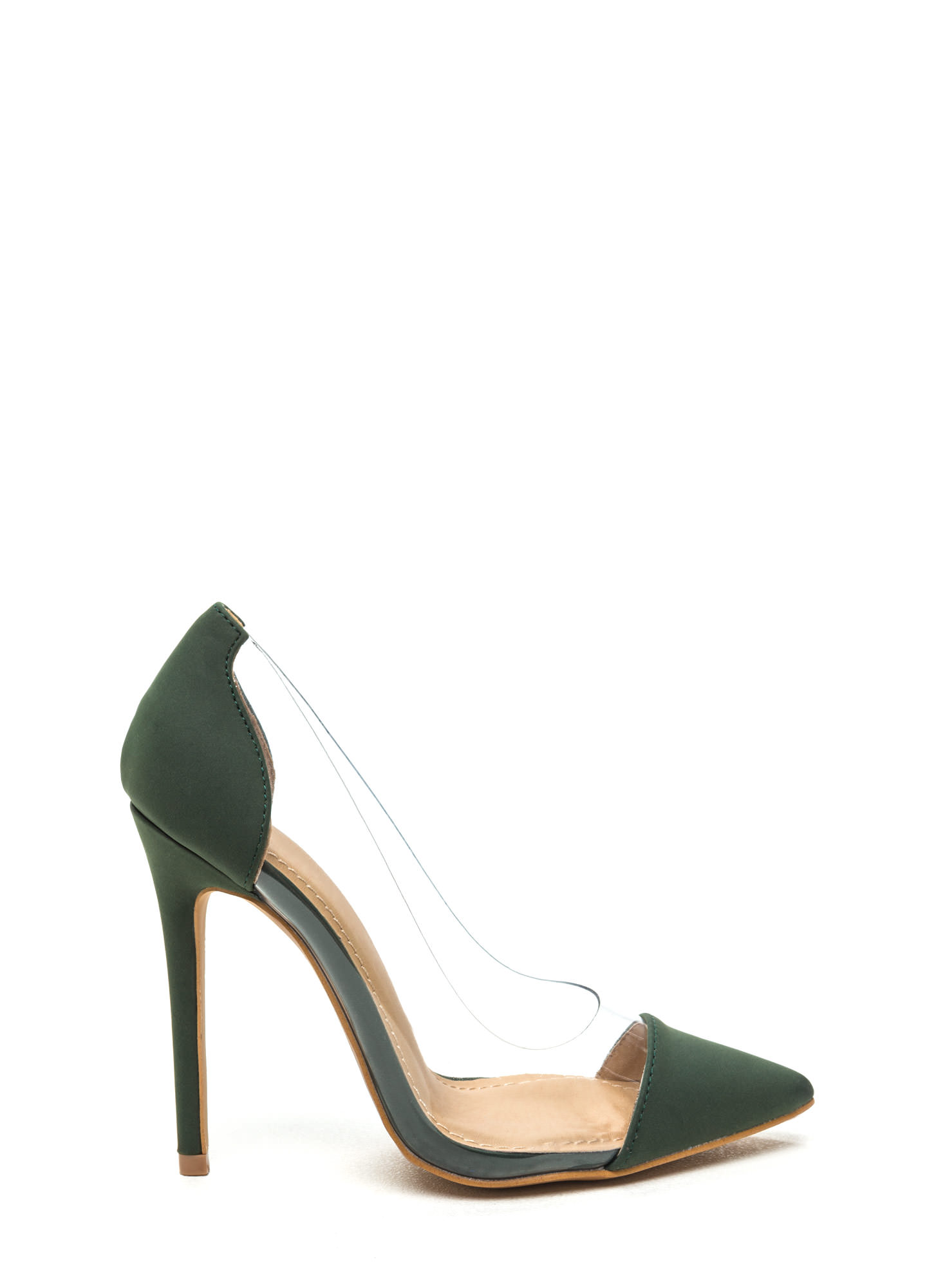 Cap Off Your Look Clear Pointy Pumps