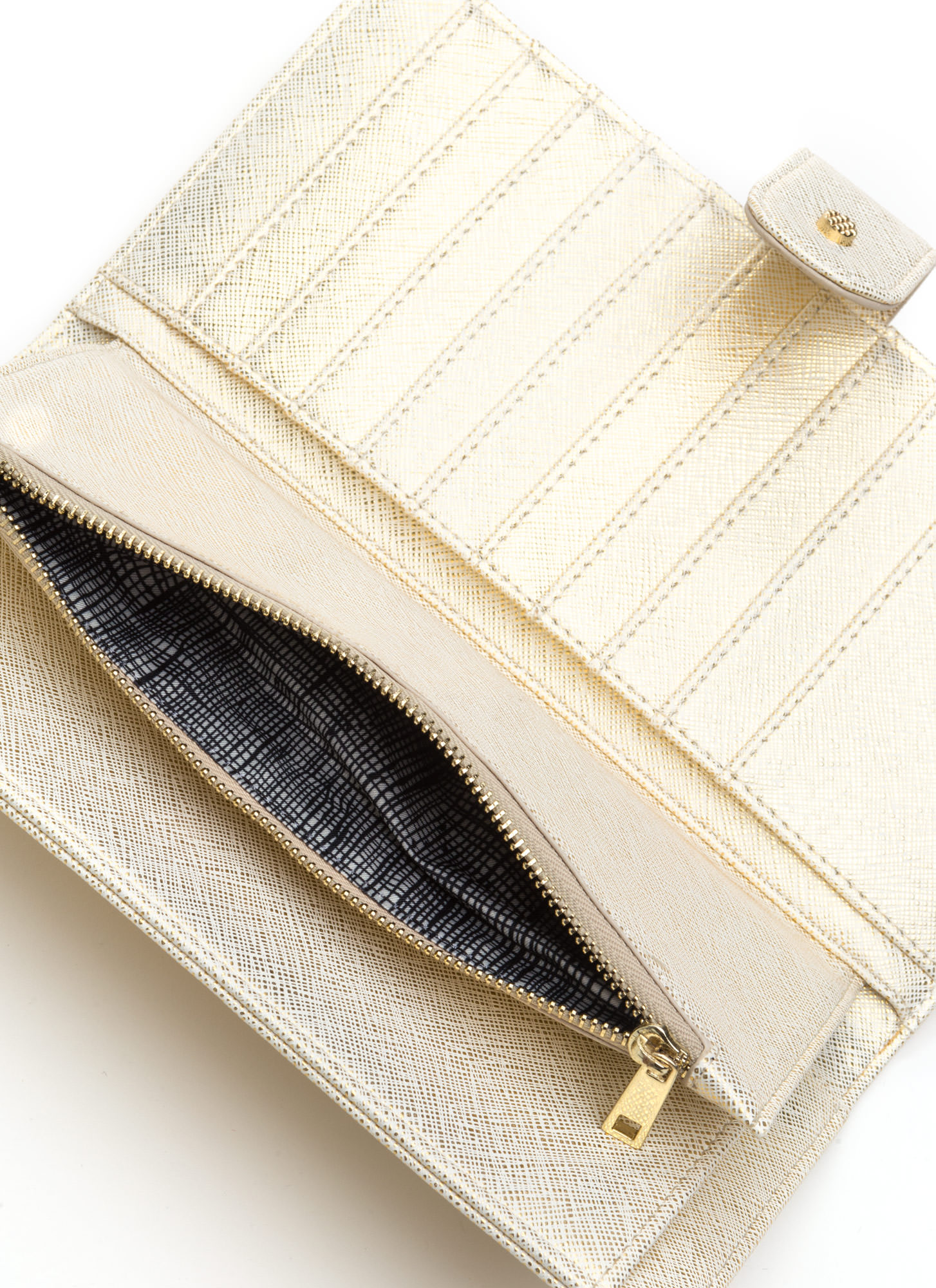 Two Become One Wallet Clutch GOLD
