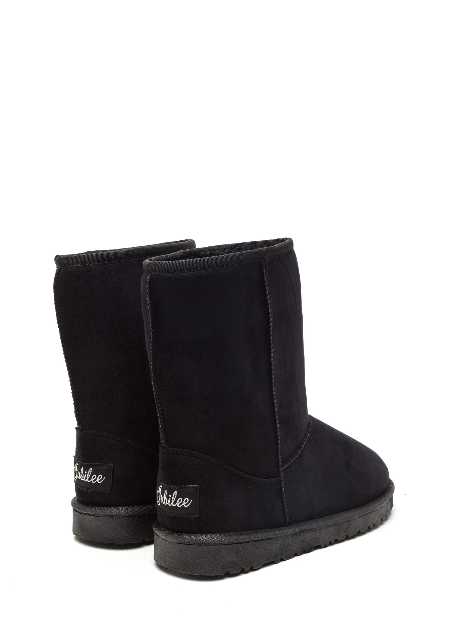 Basic Properties Faux Shearling Boots BLACK