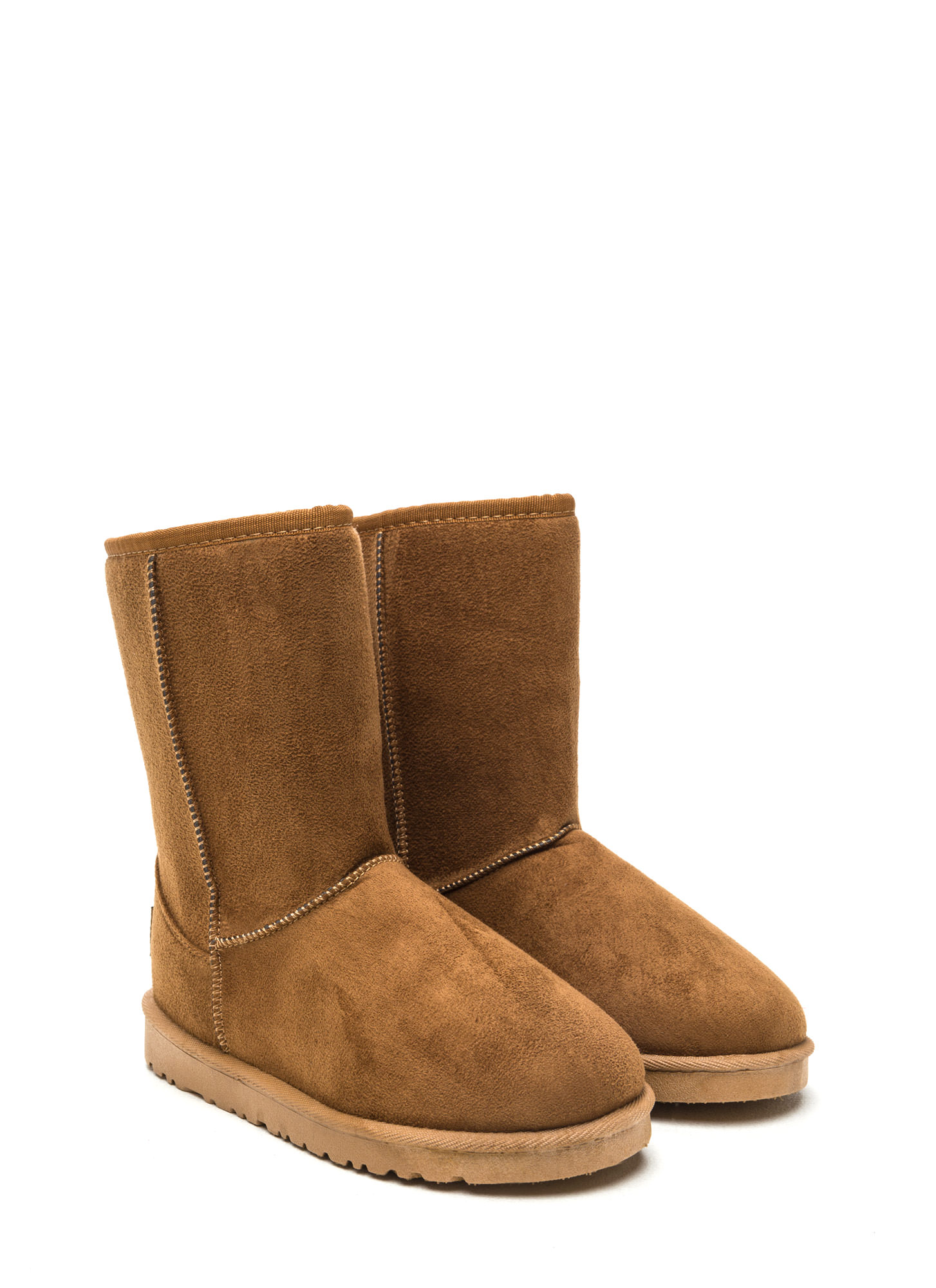 Basic Properties Faux Shearling Boots CAMEL
