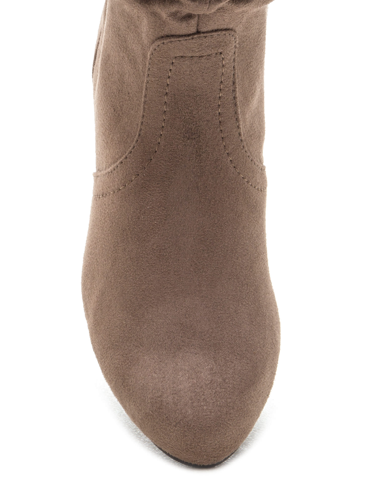 Ditch Day Faux Suede Boots DKTAUPE