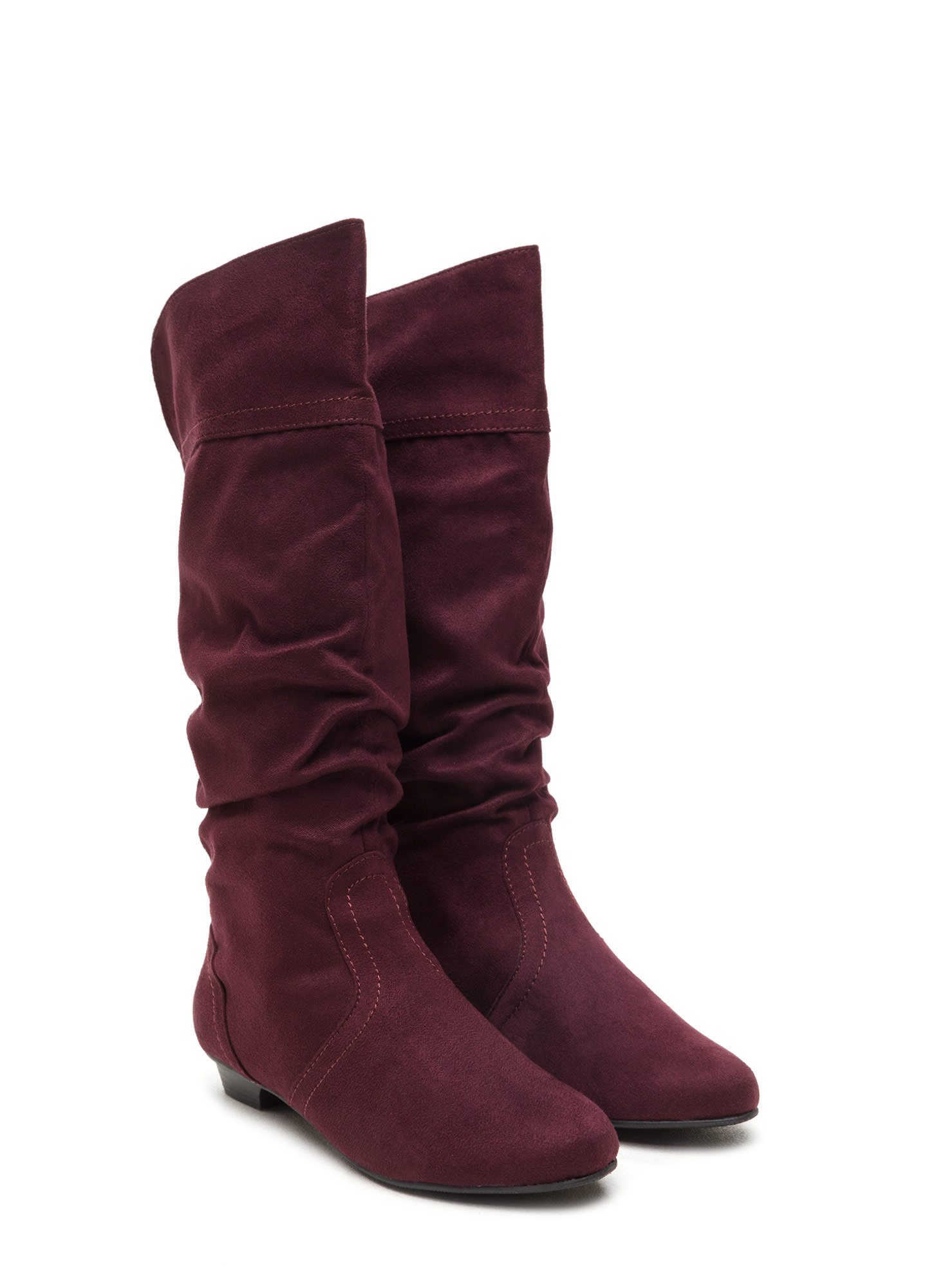 Ditch Day Faux Suede Boots VINO