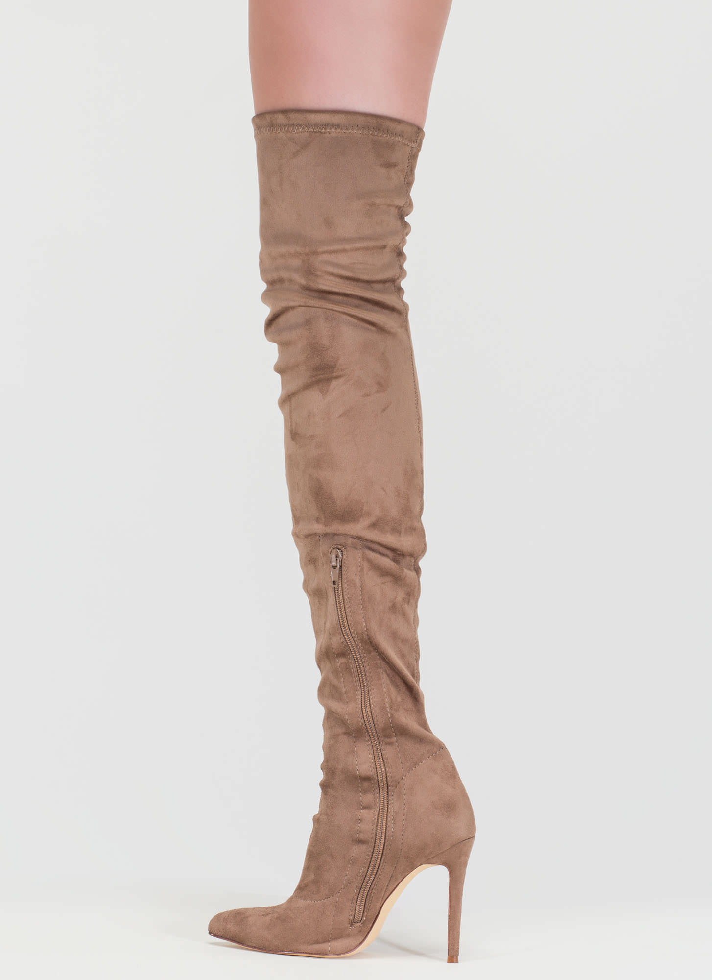 story chic thigh high boots black mauve maroon olive