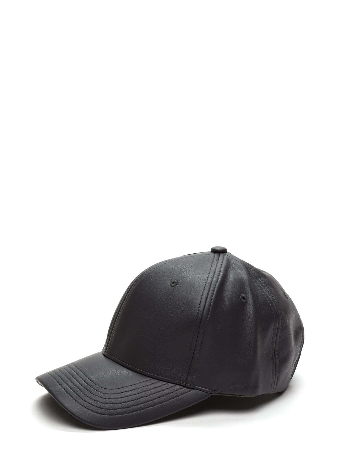 Even Better On Faux Leather Cap BLACK