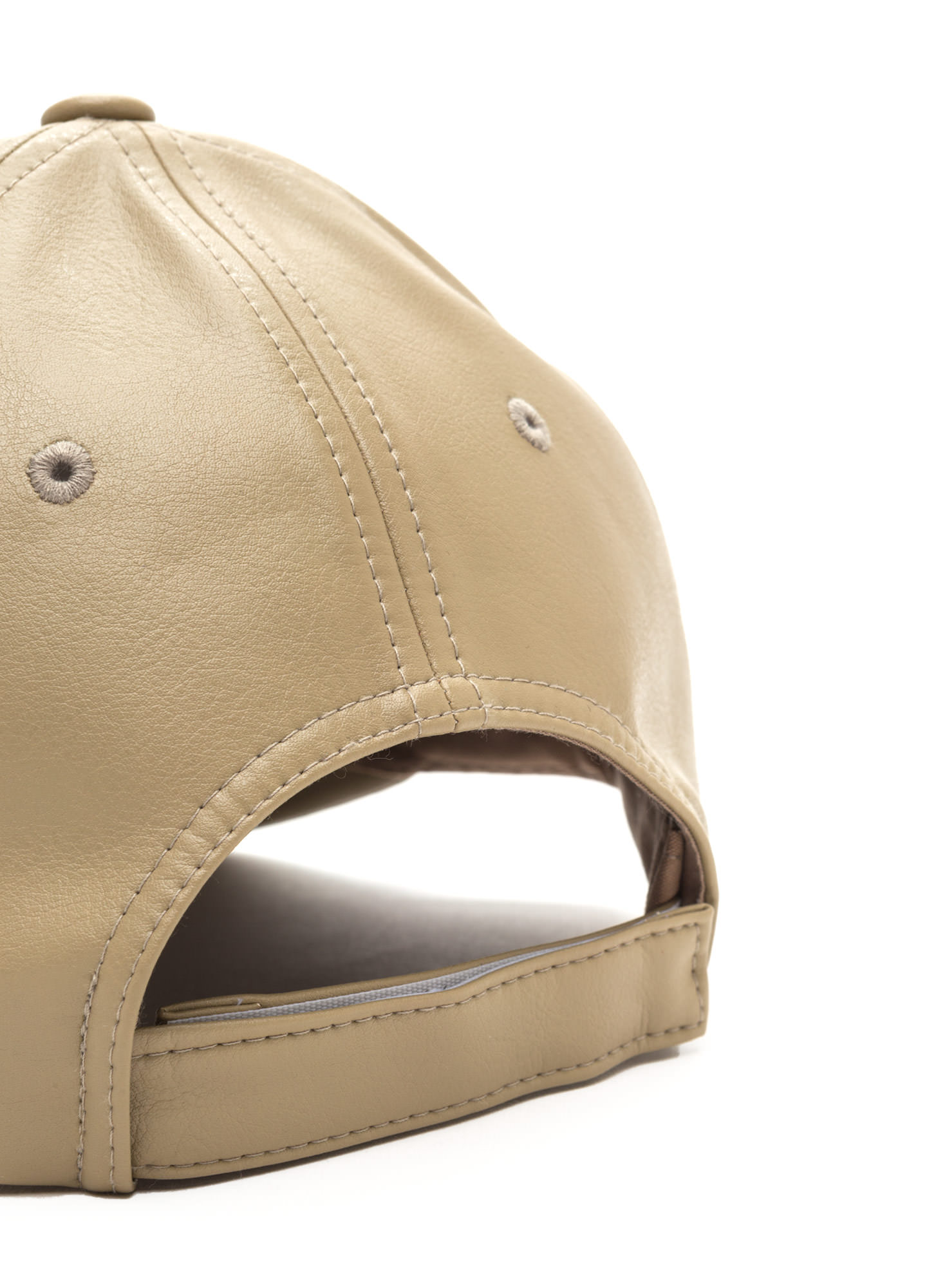 Even Better On Faux Leather Cap LTTAUPE
