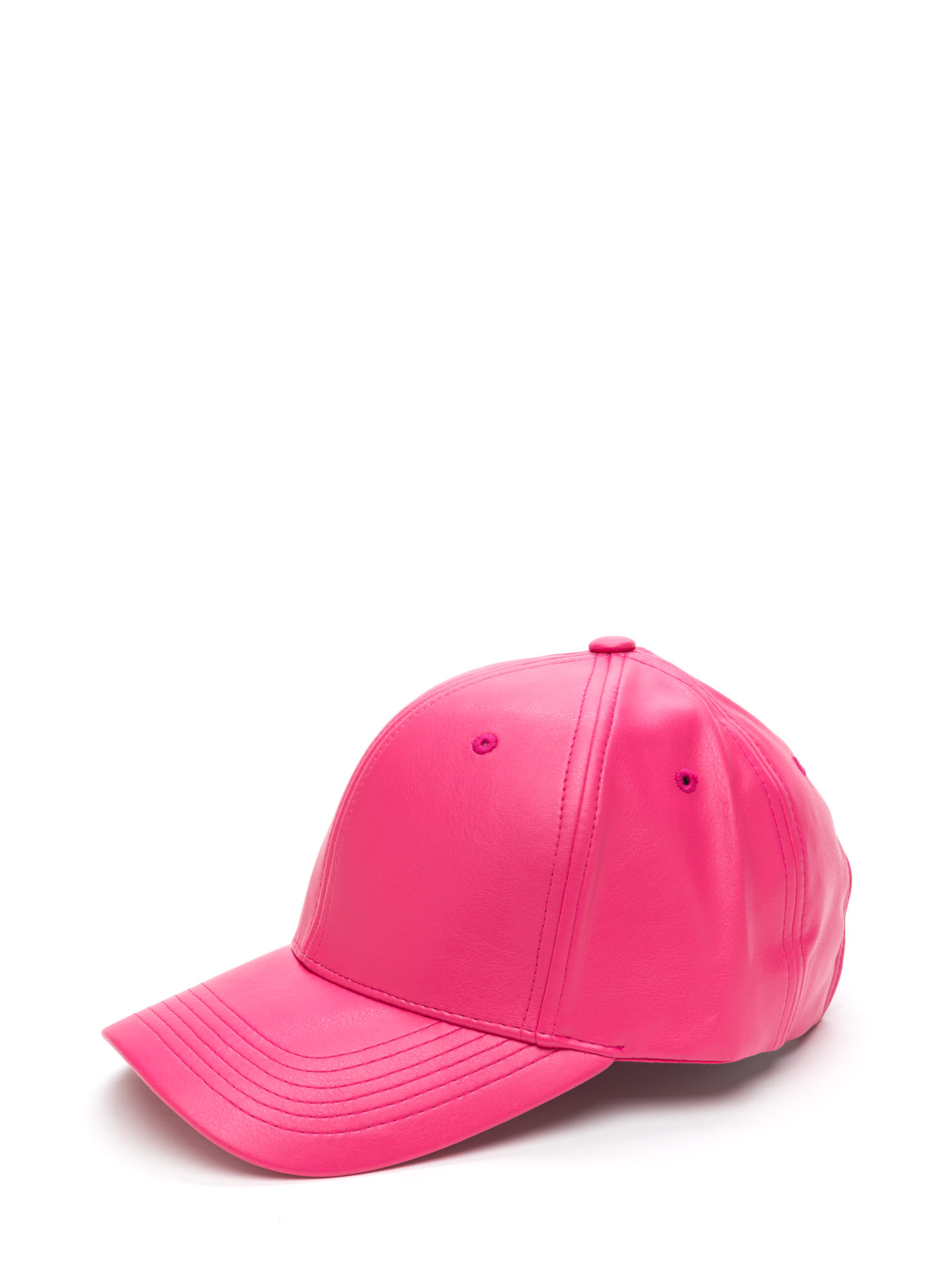 Even Better On Faux Leather Cap PINK