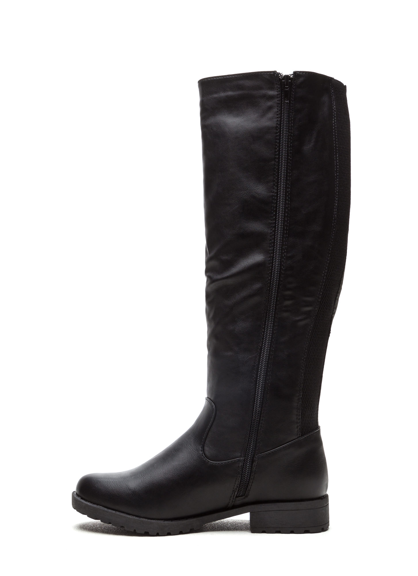 They're Everything Mixed Media Boots BLACK