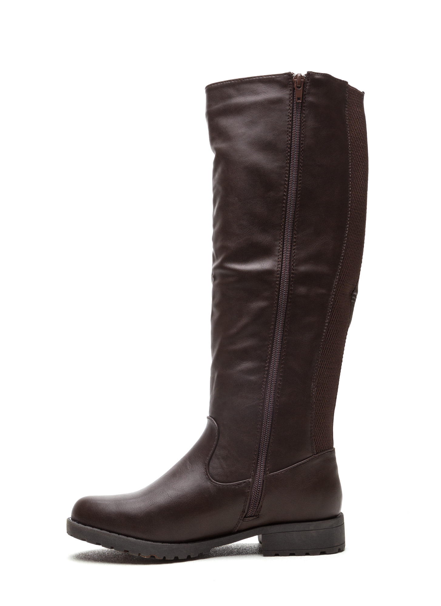 They're Everything Mixed Media Boots BROWN
