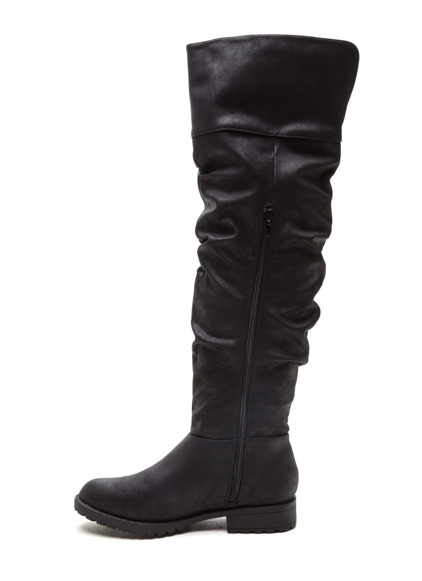 Ground Level Faux Nubuck Boots BLACK
