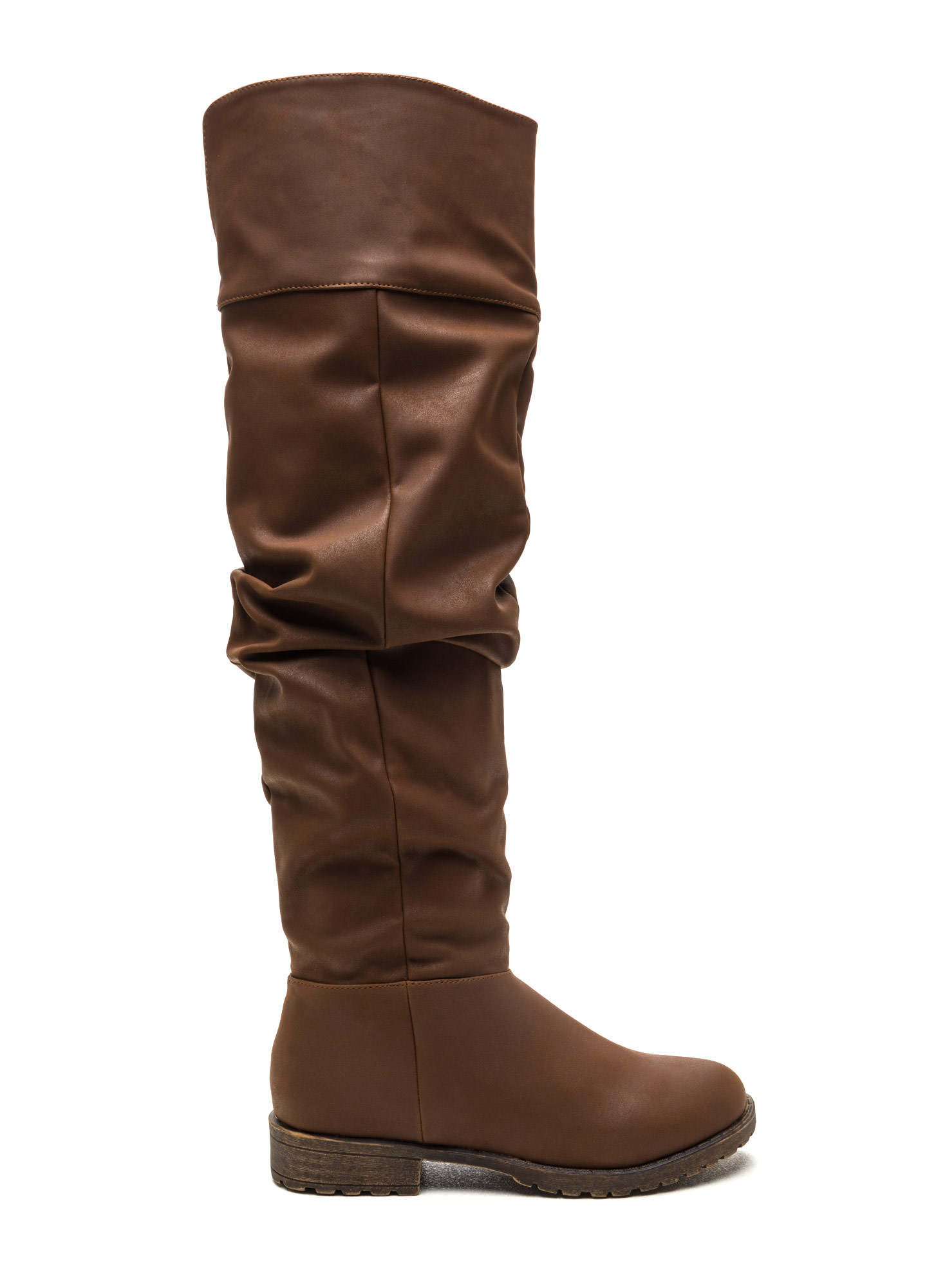 Ground Level Faux Nubuck Boots CHESTNUT