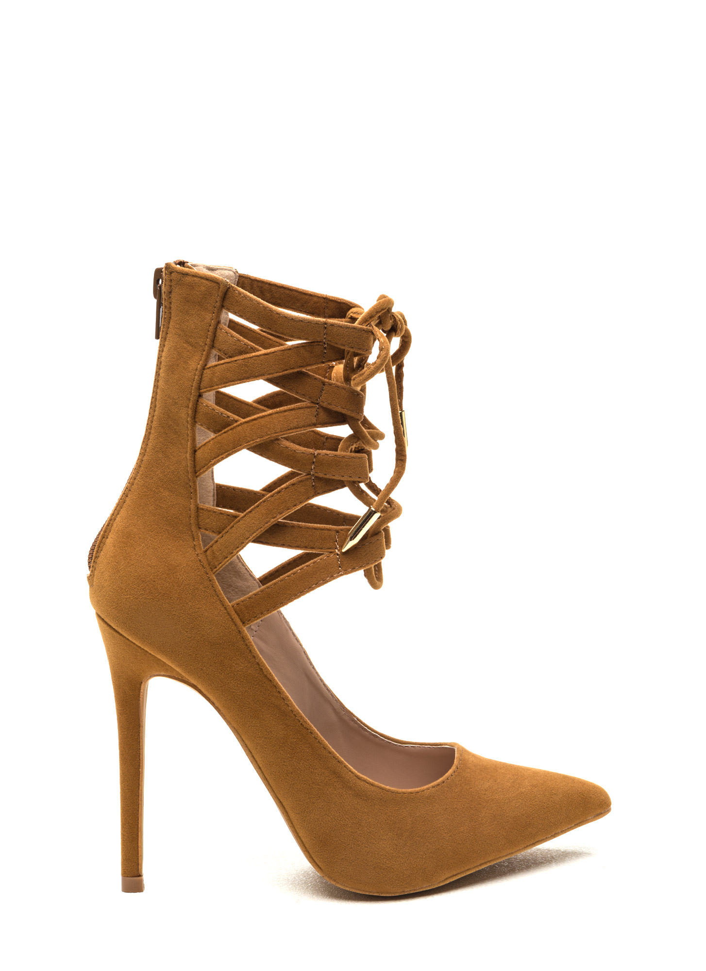 Laced To The Finish Heels
