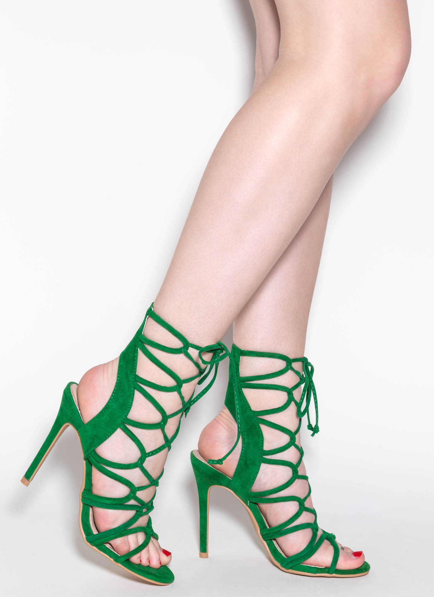 Green And Purple Heels