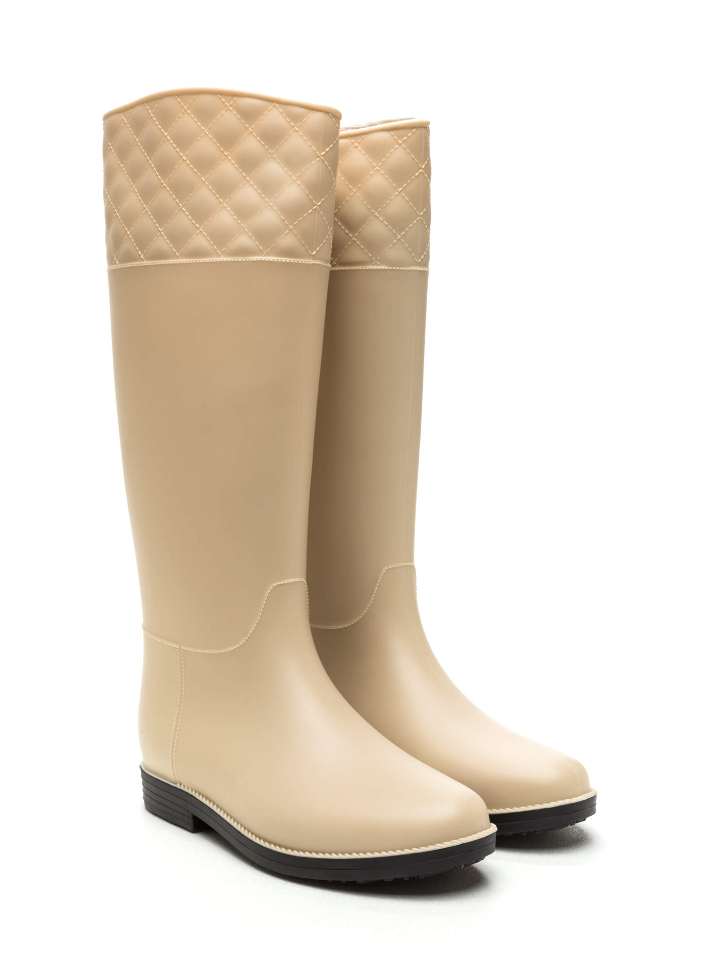 Quilted Touch Rain Boots NUDE