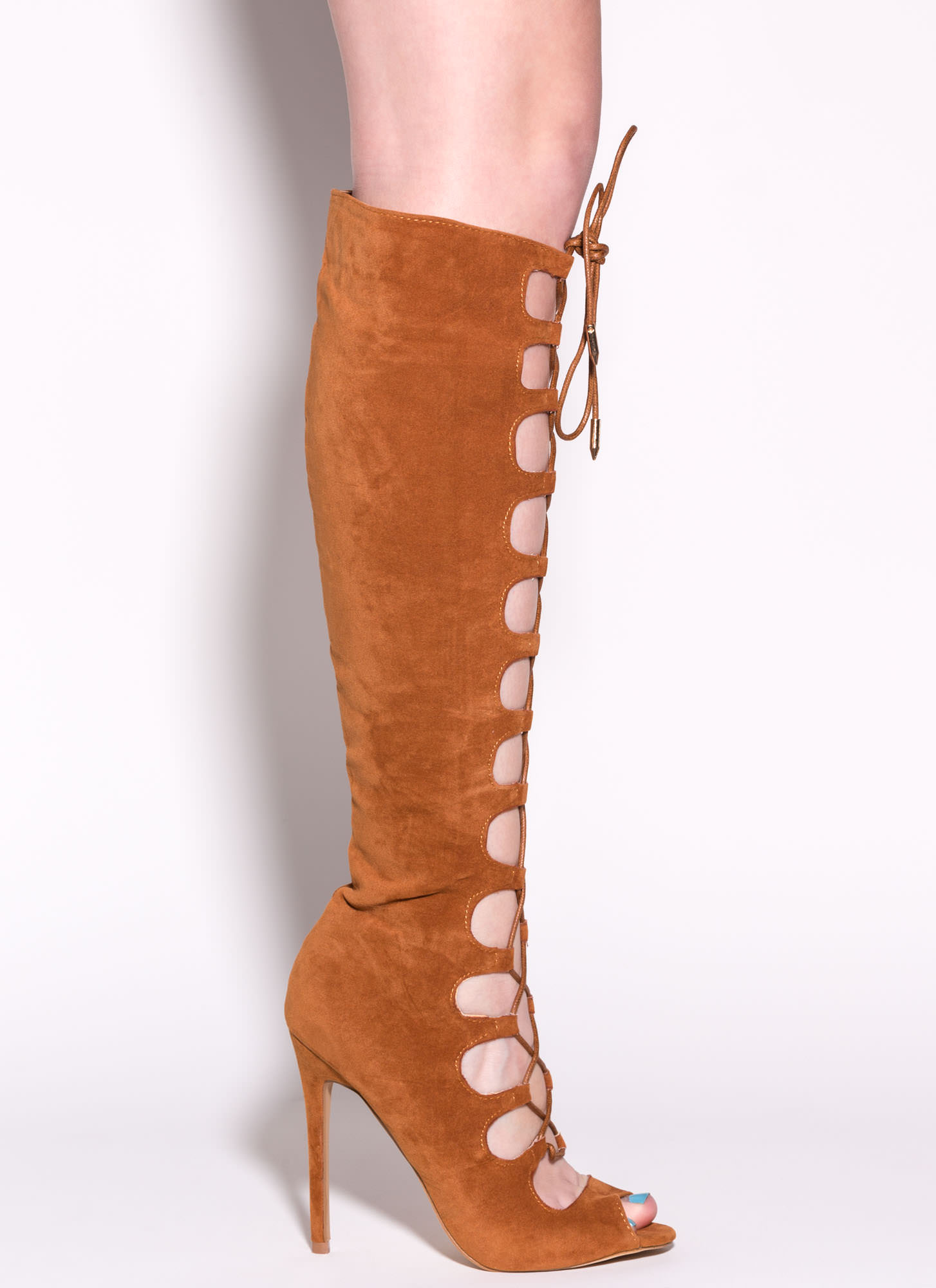 In Combat Gladiator Heels CHESTNUT