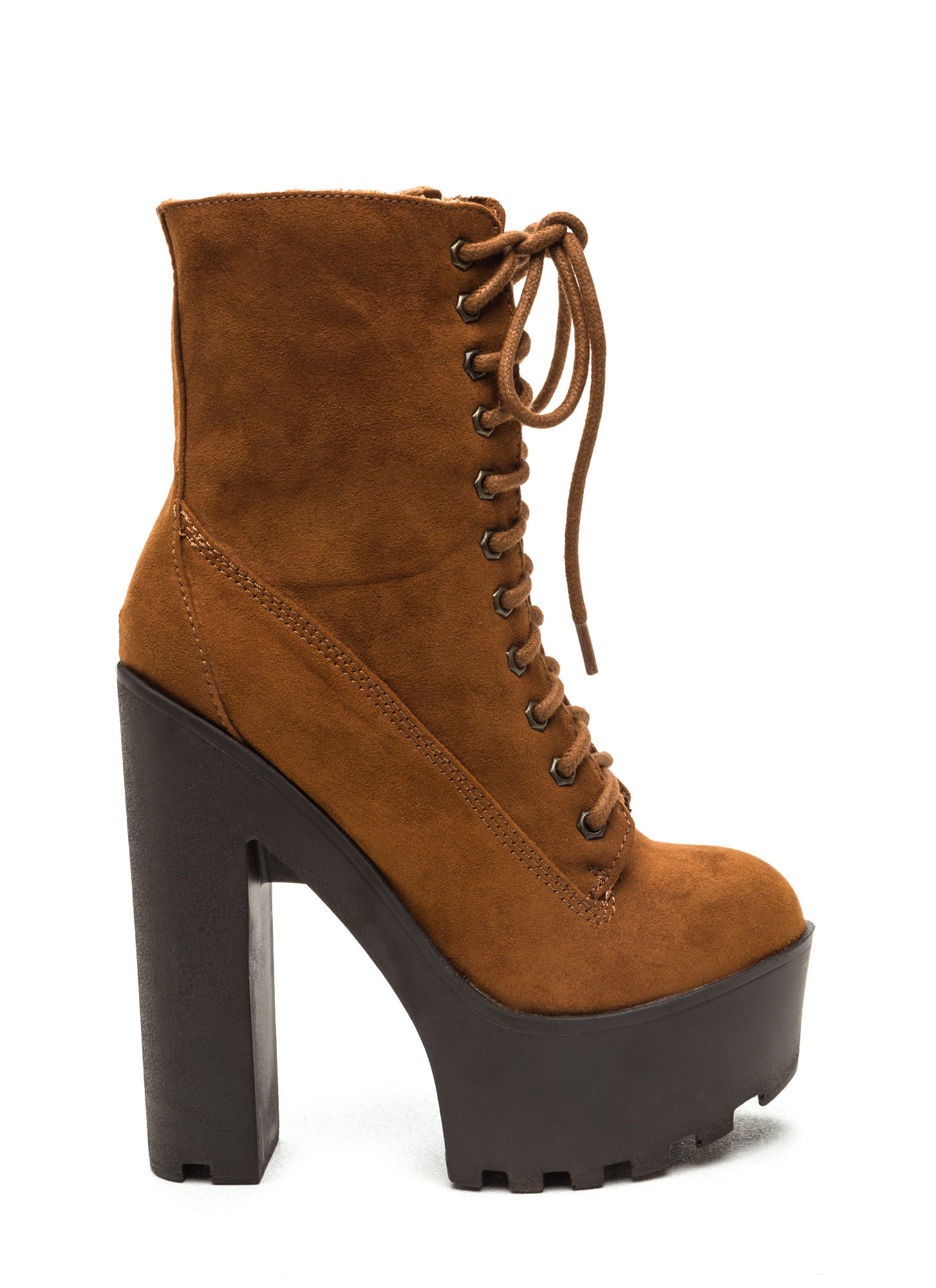 Surely Shearling Faux Suede Booties