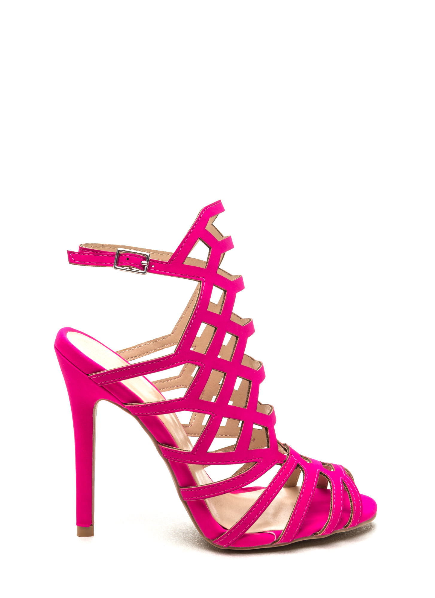 Hot Pink Strappy High Heels