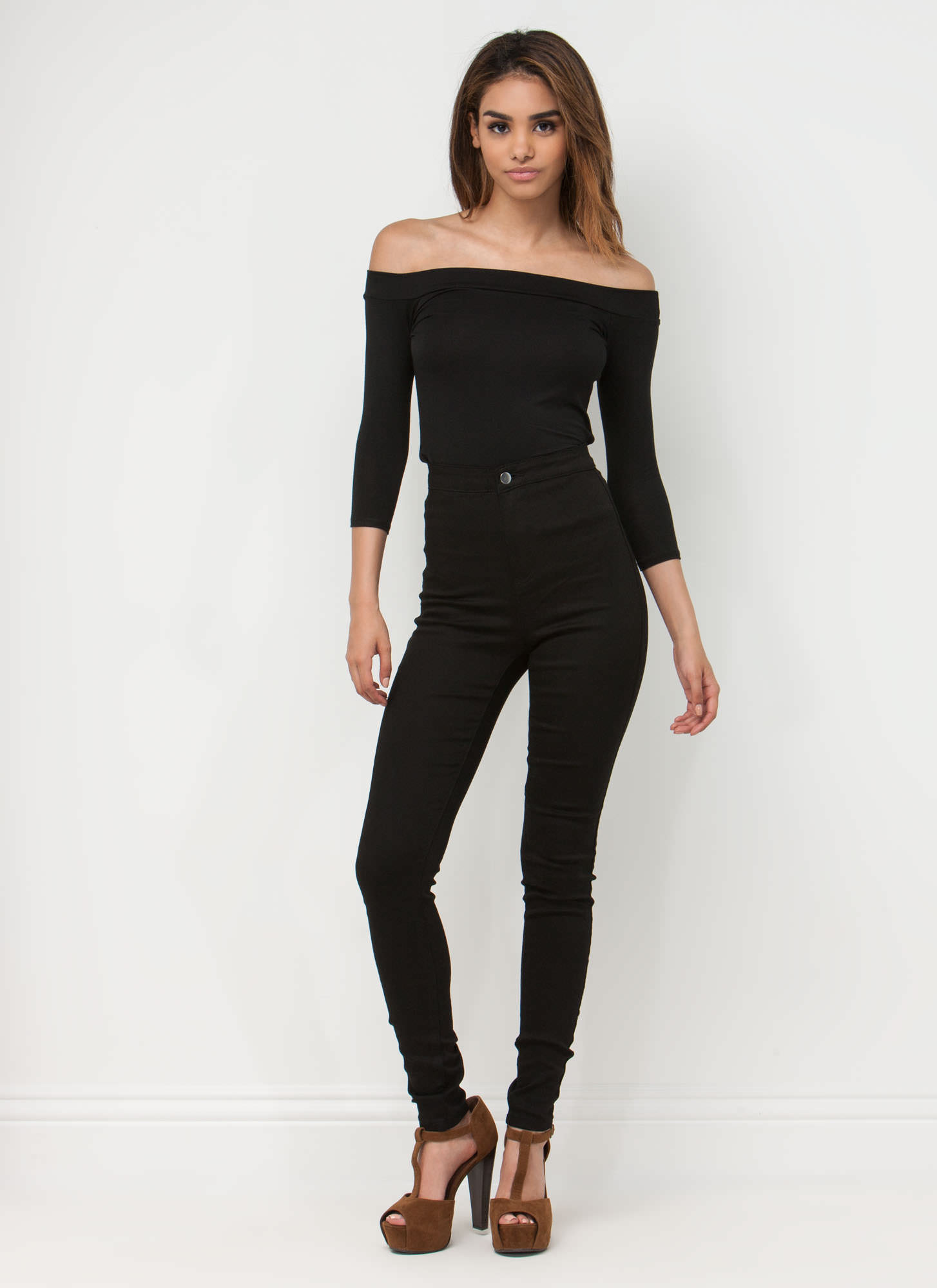 Simply Irresistible Off-The-Shoulder Top BLACK