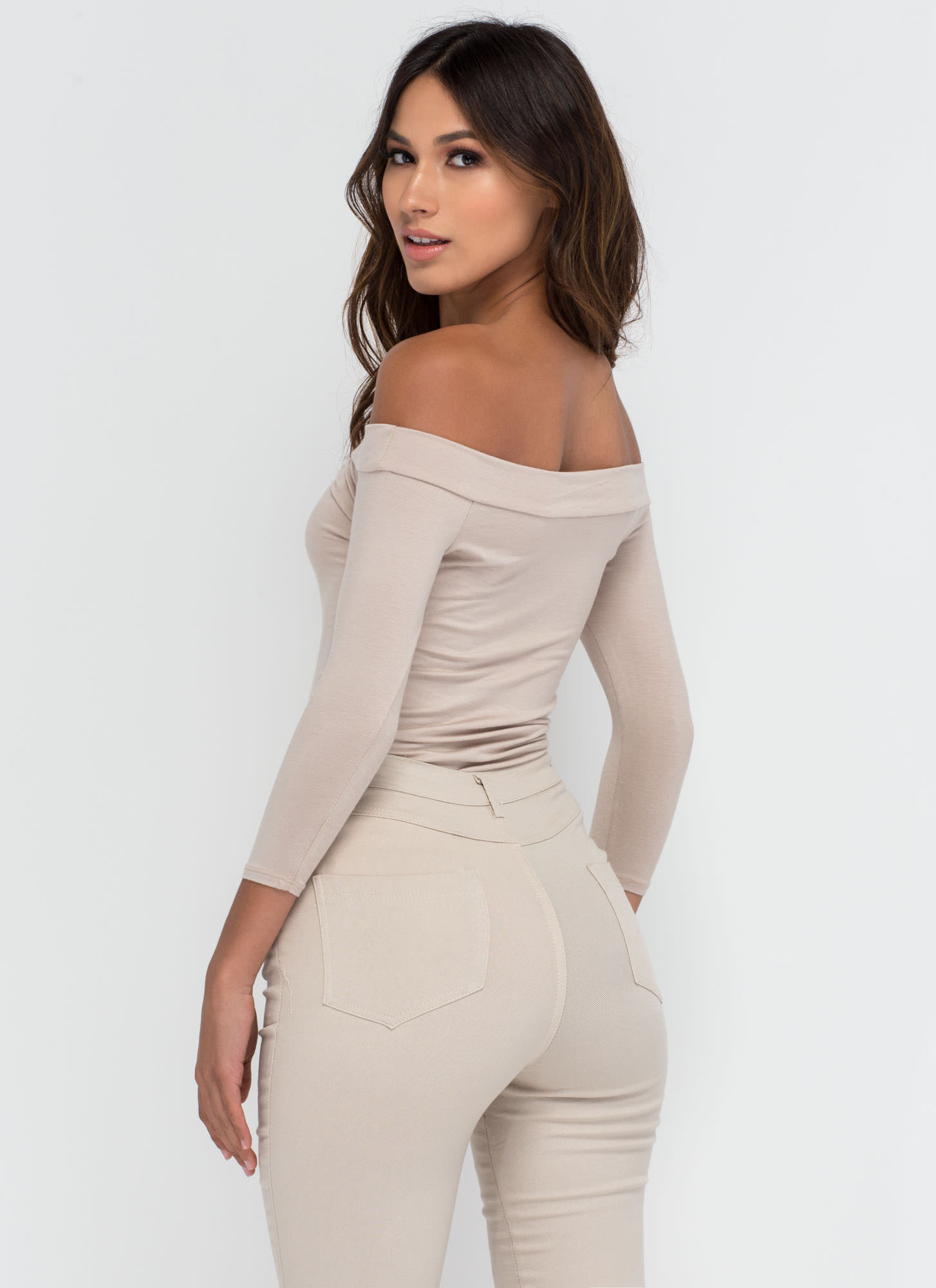 Simply Irresistible Off-The-Shoulder Top MOCHA