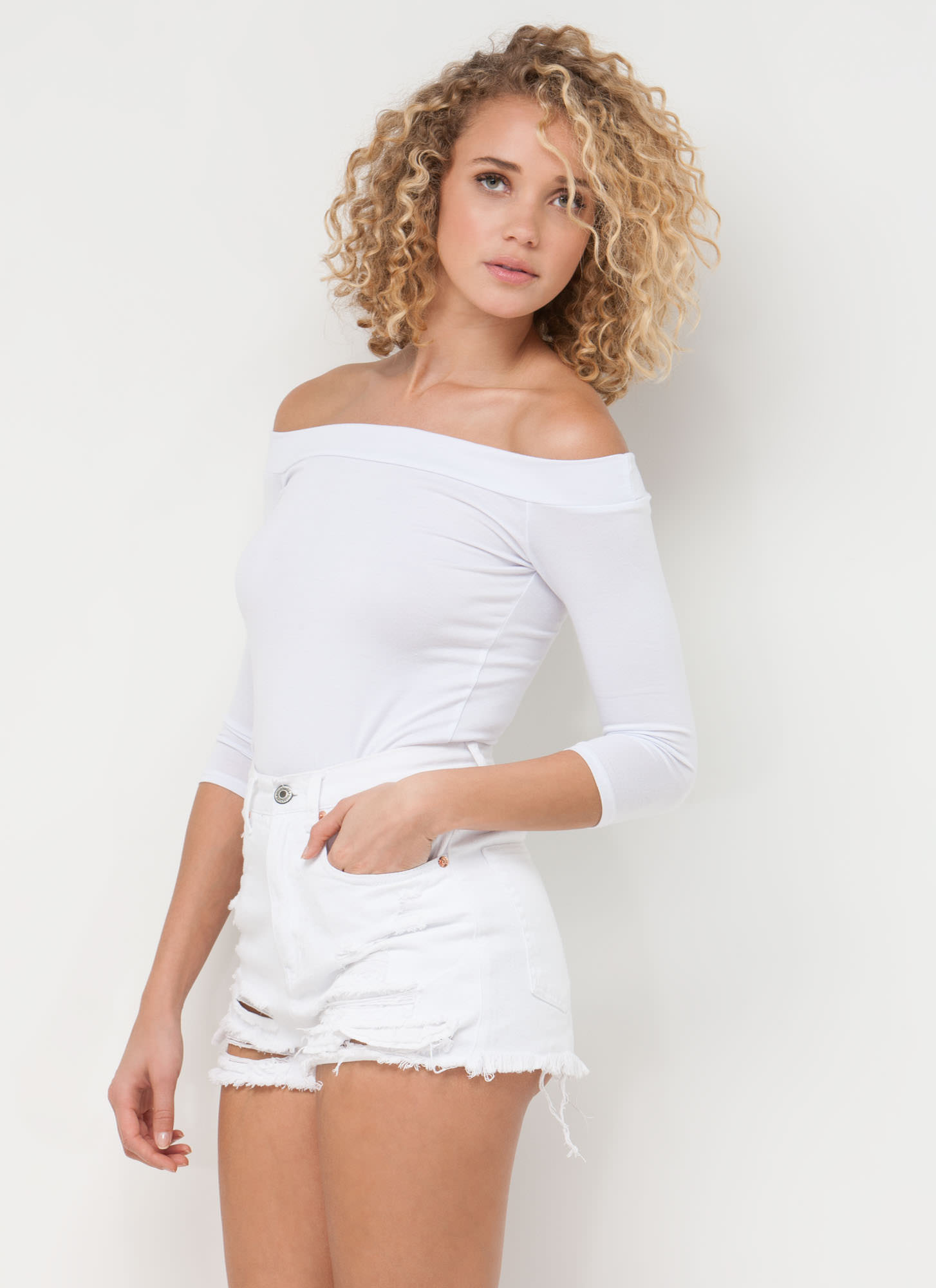 Simply Irresistible Off-The-Shoulder Top WHITE