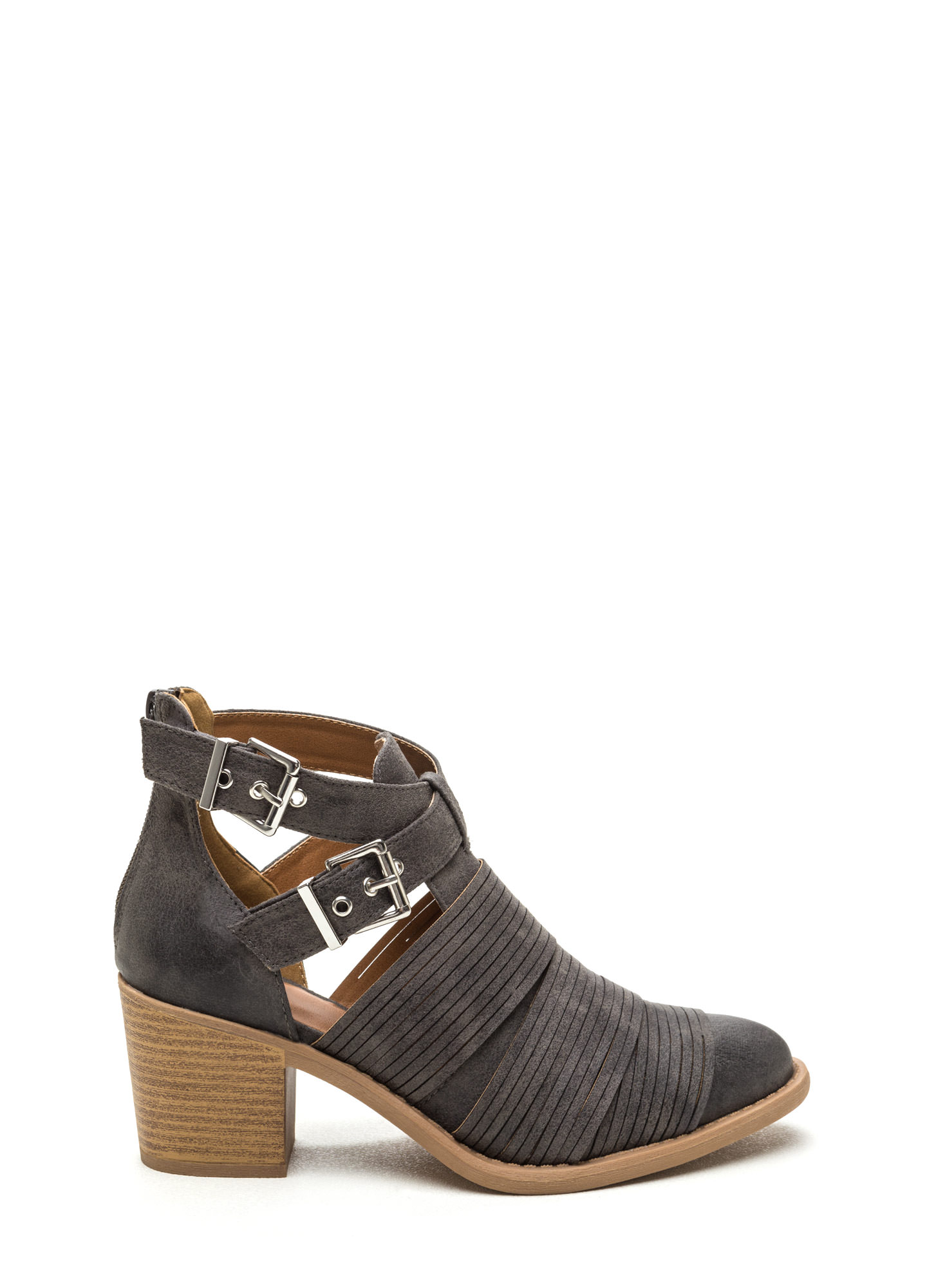 Make The Cut-Out Booties GREY