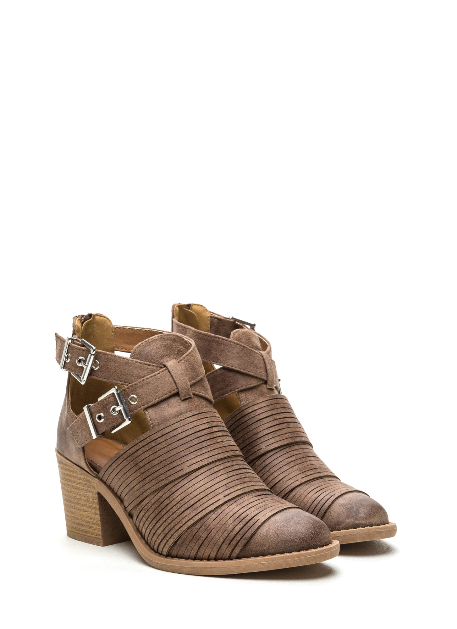 Make The Cut-Out Booties TAUPE